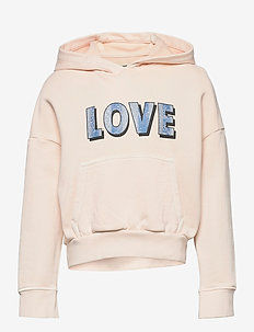 HOODED SWEATSHIRT - hoodies - washed pink