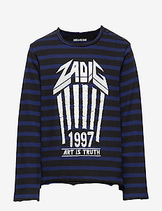 LONG SLEEVE T-SHIRT - BLACK/BLUE