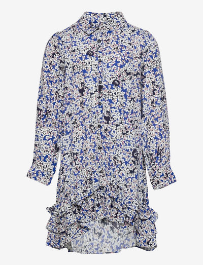LONG SLEEVED DRESS - dresses - electric blue