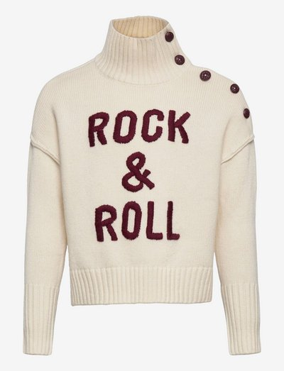 POLO NECK SWEATER OR JUMPER - jumpers - ivory
