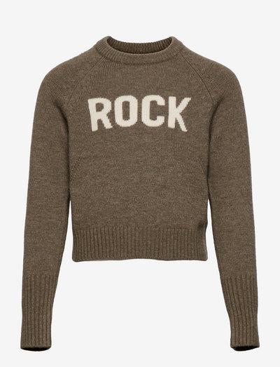 PULLOVER - sweatshirts - kaki chine