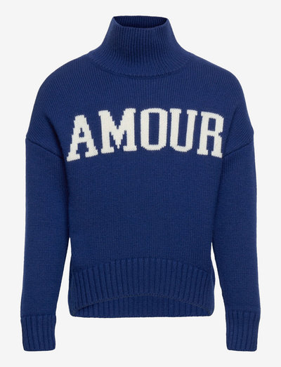 POLO NECK SWEATER OR JUMPER - jumpers - blue