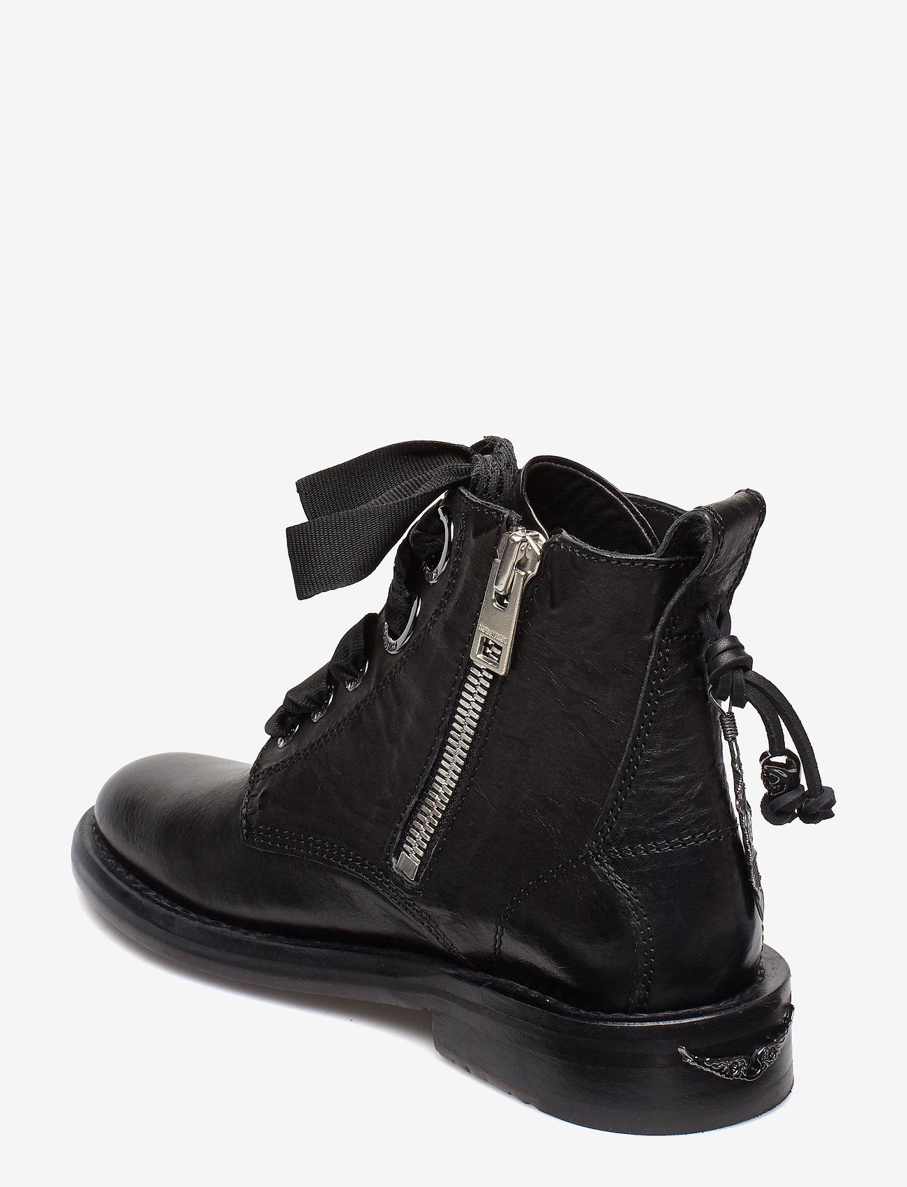 Zadig & Voltaire - LAUREEN ROMA SHOES - flade ankelstøvler - black - 2