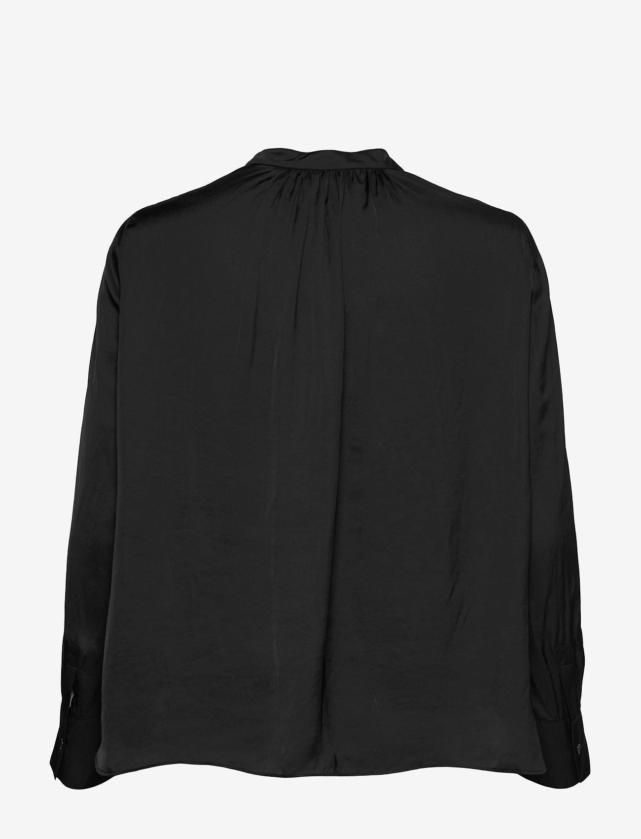 Zadig & Voltaire - TINK SATIN TUNIC BLOUSE PERMANENT - langærmede bluser - black - 1