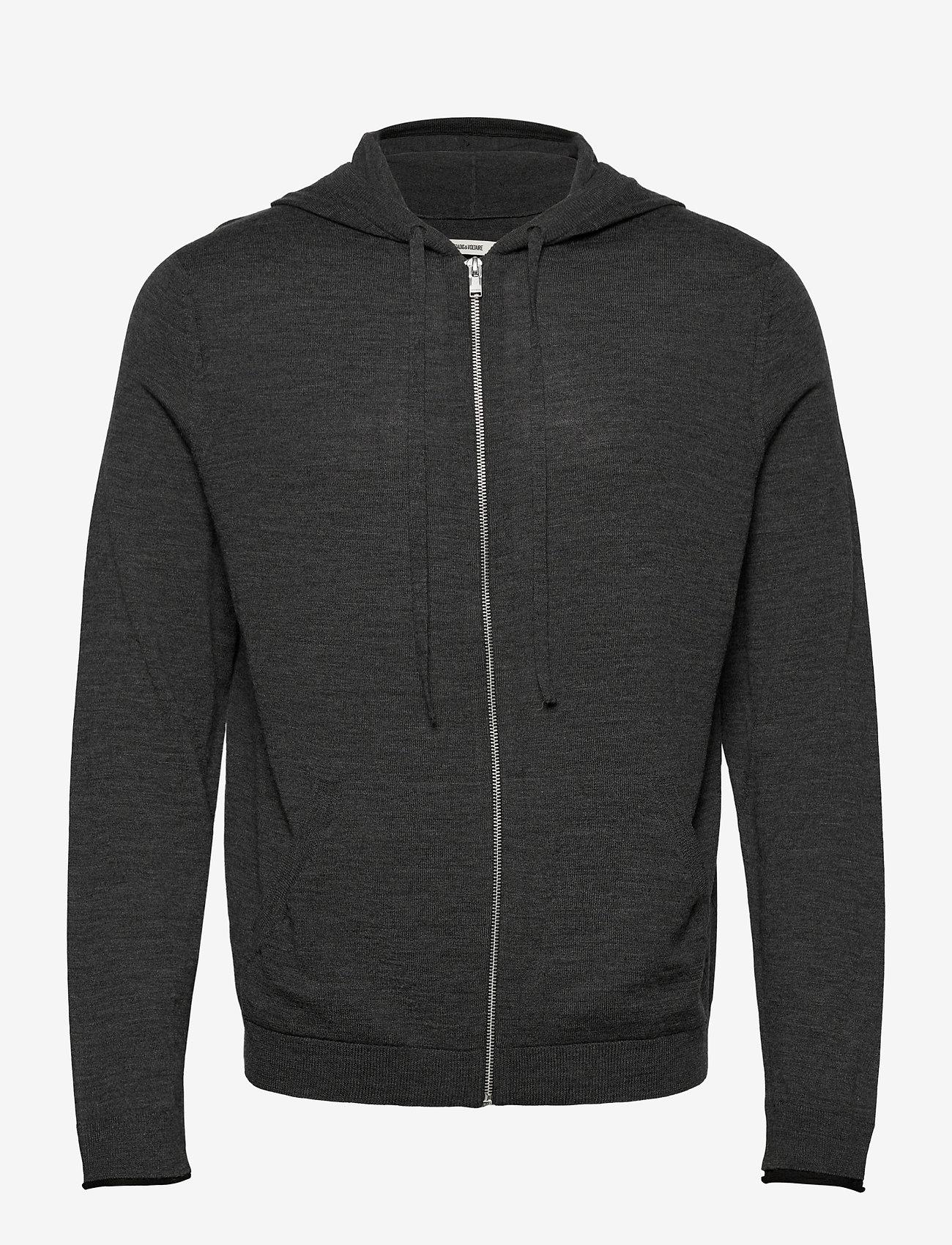 Zadig & Voltaire - CLASH M LONG SLEEVE HOODIE MERINOS - basic sweatshirts - grey - 0
