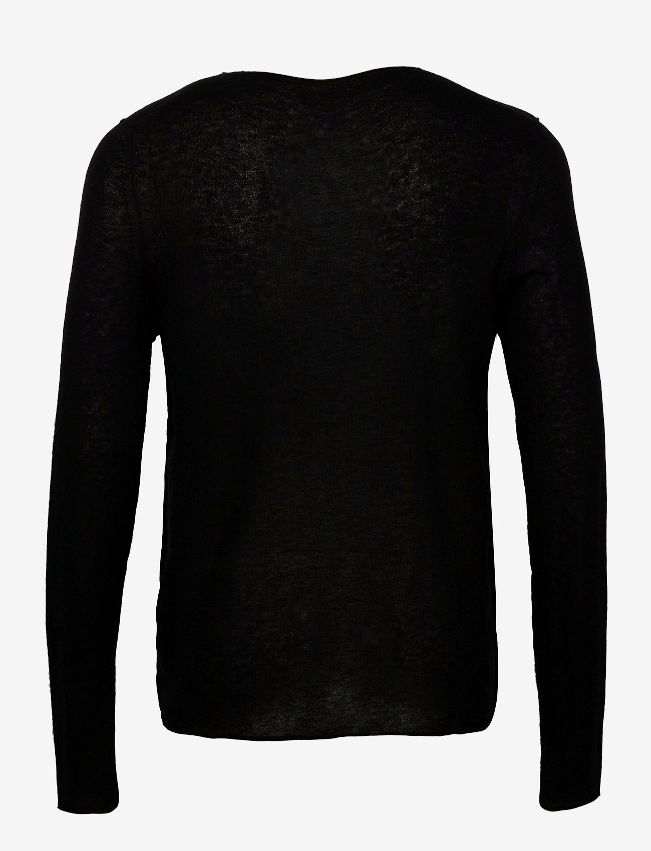 Zadig & Voltaire - TEISS CP LONG SLEEVED SWEATER FEATHER CACHEMIRE - basic strik - black - 1