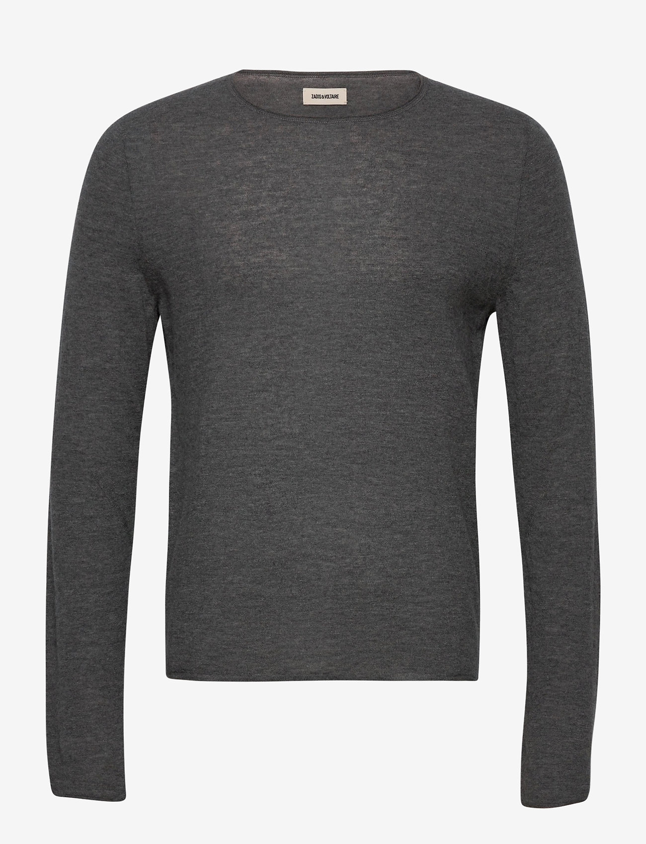 Zadig & Voltaire - TEISS CP LONG SLEEVED SWEATER FEATHER CACHEMIRE - basic strik - grey - 0
