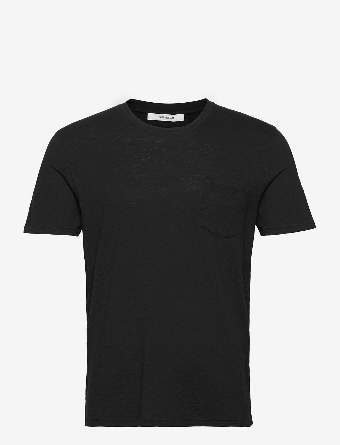 Zadig & Voltaire - STOCKHOLM COTTON SLUB - basic t-shirts - black - 1