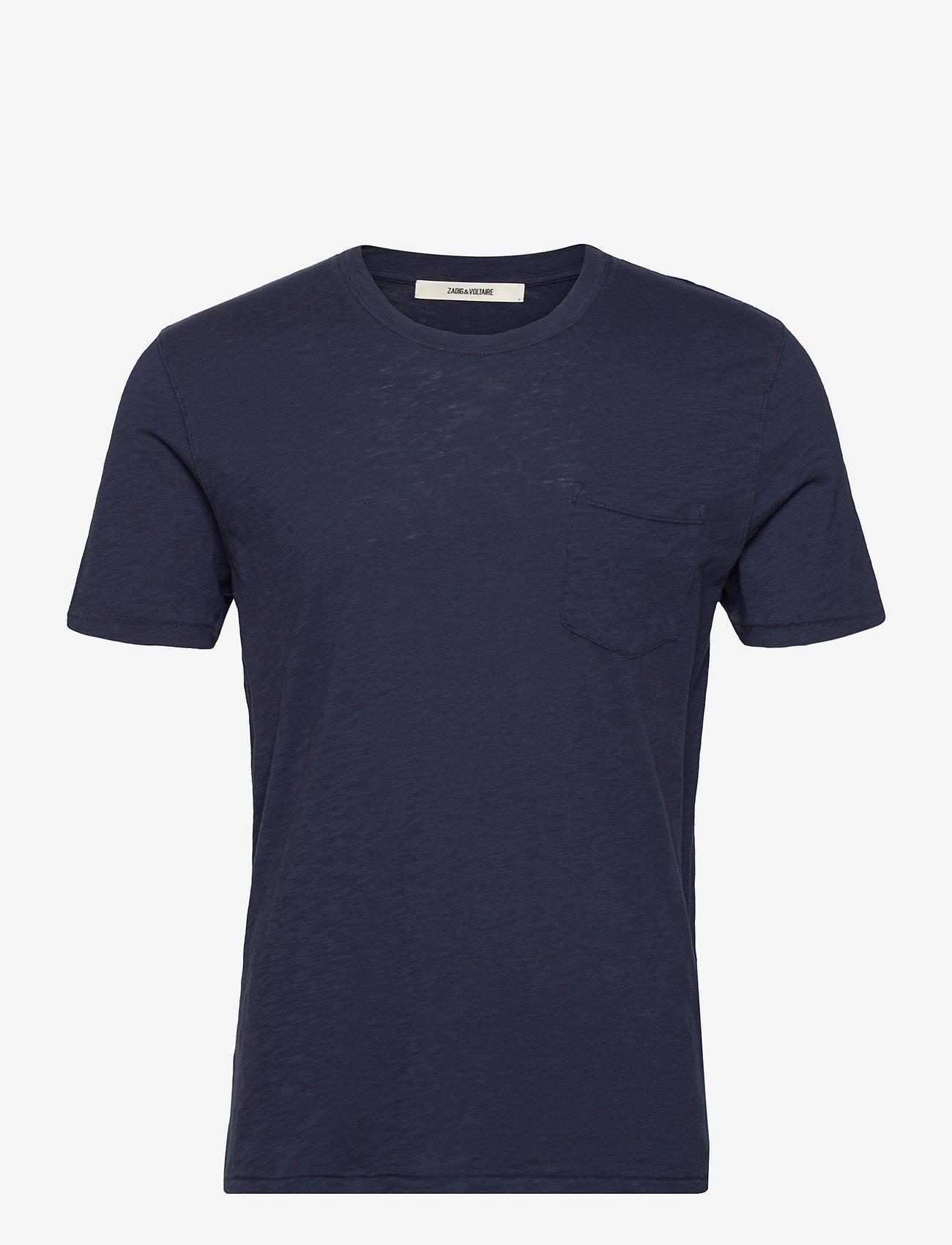 Zadig & Voltaire - STOCKHOLM COTTON SLUB - basic t-shirts - navy blue - 1