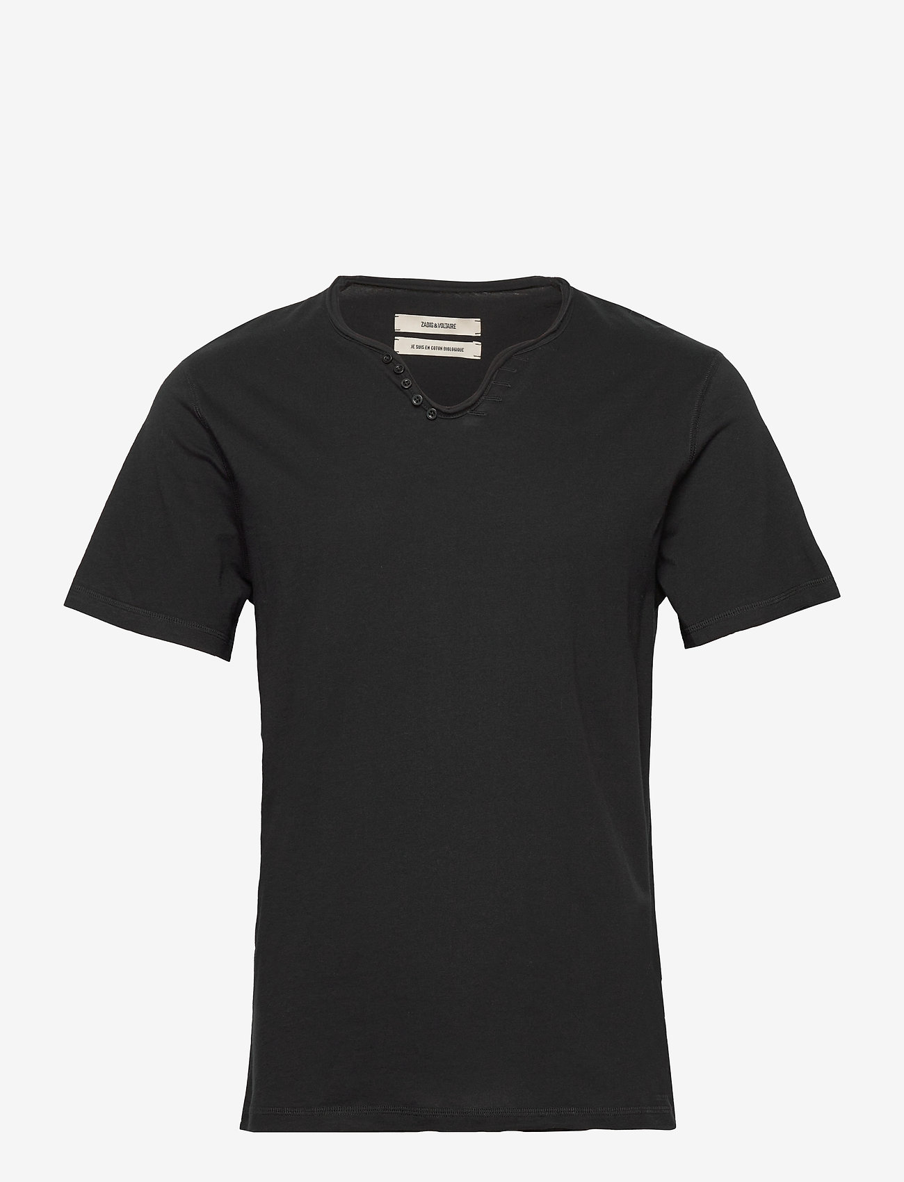 Zadig & Voltaire - MONASTIR MC ECO TUNISIEN MC ECOFRIENDLY - basic t-shirts - black - 0