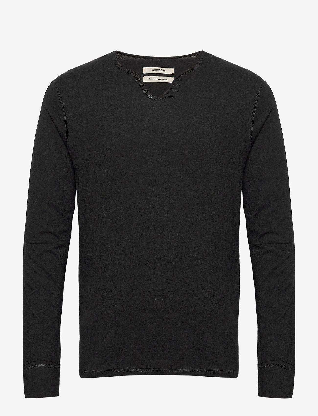 Zadig & Voltaire - MONASTIR ML ECO TUNISIEN ECOFRIENDLY - basic t-shirts - black - 0