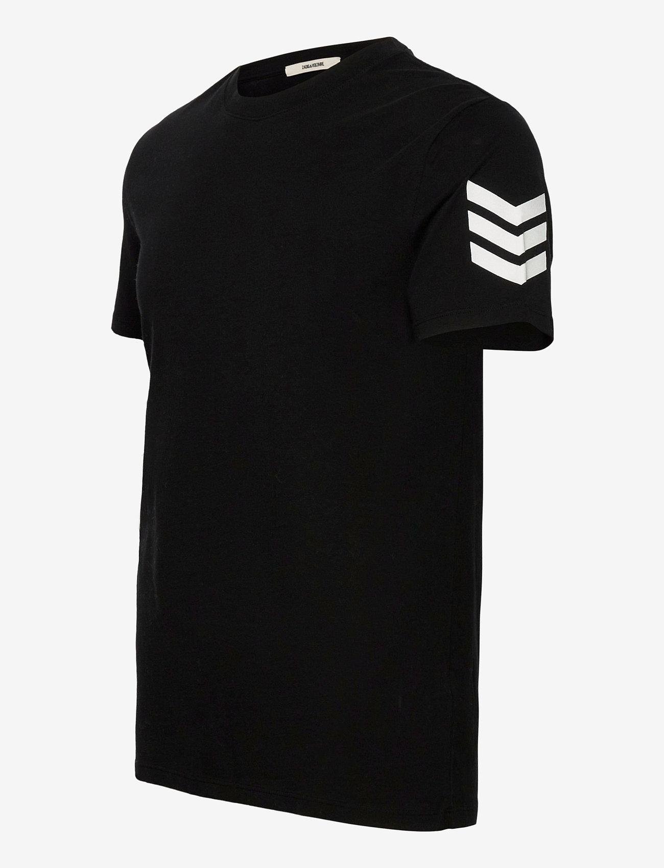 Zadig & Voltaire - TOMMY HC ARROW TEE-SHIRT PRINT ARROW SLEEVE - basic t-shirts - black - 2