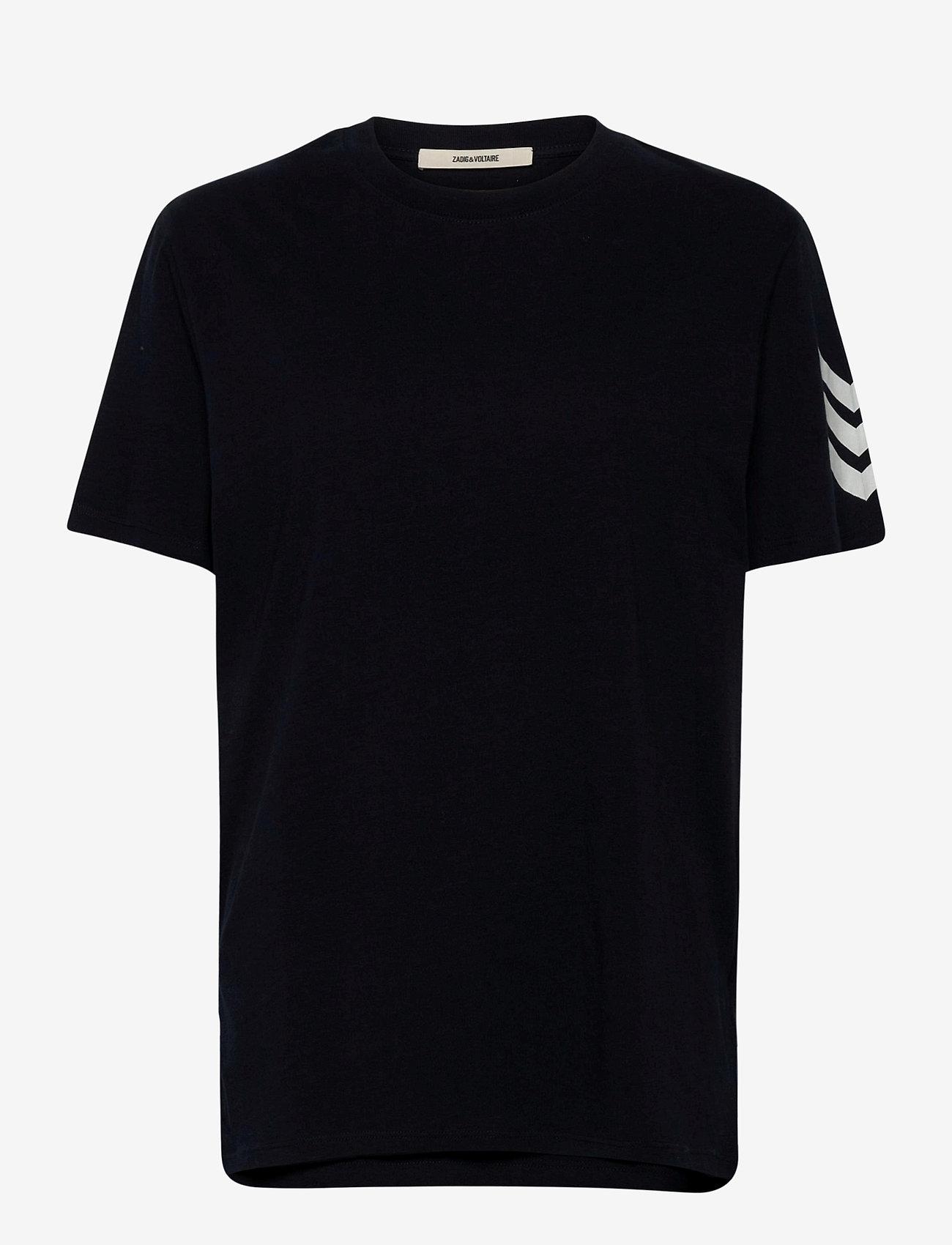 Zadig & Voltaire - TOMMY HC ARROW TEE-SHIRT PRINT ARROW SLEEVE - basic t-shirts - navy blue - 0