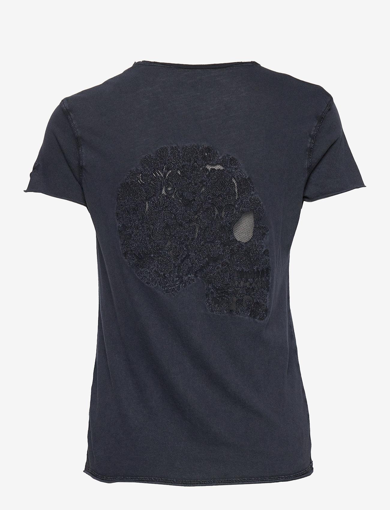 Zadig & Voltaire Story Fishnet Mandala Skull T Shirt - T-shirts & Toppar Violet