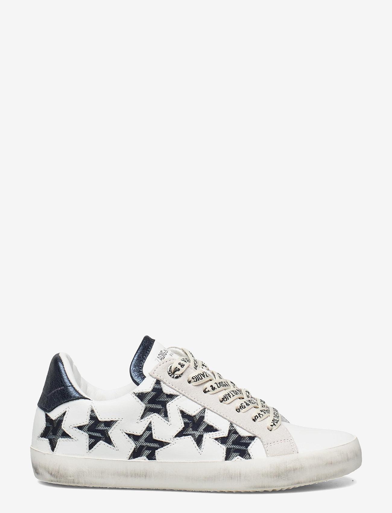 Zadig & Voltaire - ZADIG USED STARS MONOGRAM - lave sneakers - blanc acier - 1