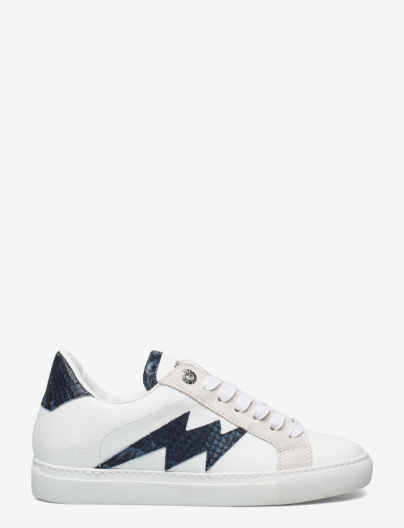 Zadig & Voltaire - ZV1747 WILD + SMOOTH CALFSKIN - lave sneakers - blanc deep - 1