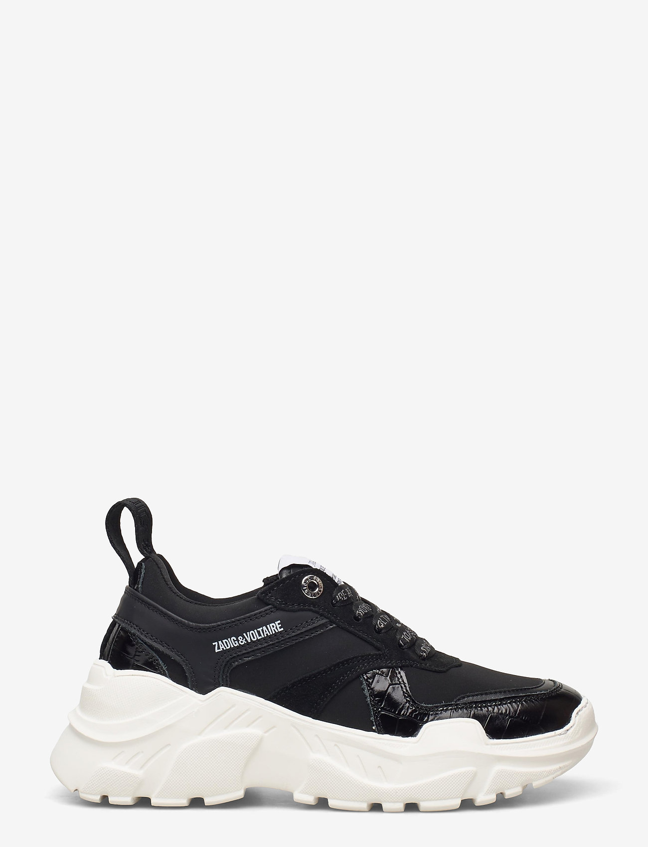 Zadig & Voltaire - FUTURE EMBOSSED CROCO + MIX NEOPRENE - chunky sneakers - black - 1