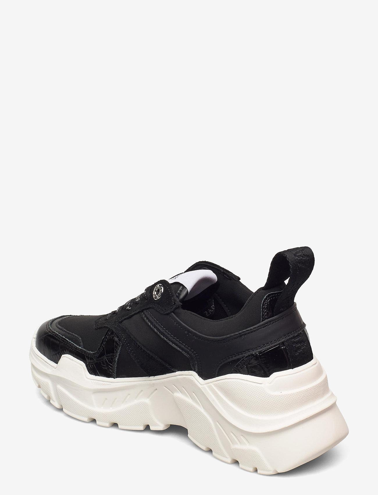 Zadig & Voltaire - FUTURE EMBOSSED CROCO + MIX NEOPRENE - chunky sneakers - black - 2