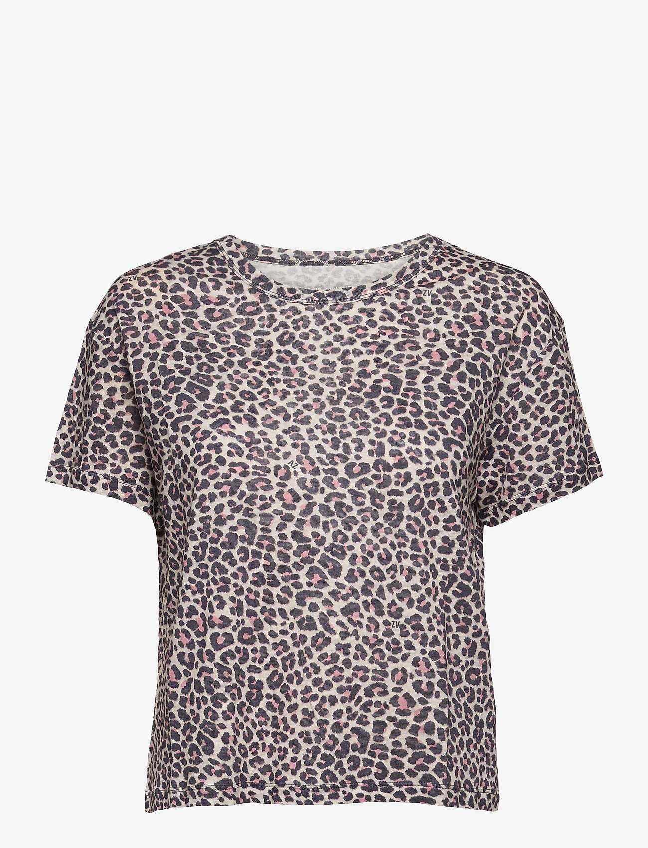 Zadig & Voltaire - JAMY AO LEOPARD AO PRINTED LINEN TANK TOP - t-shirts - coral - 0