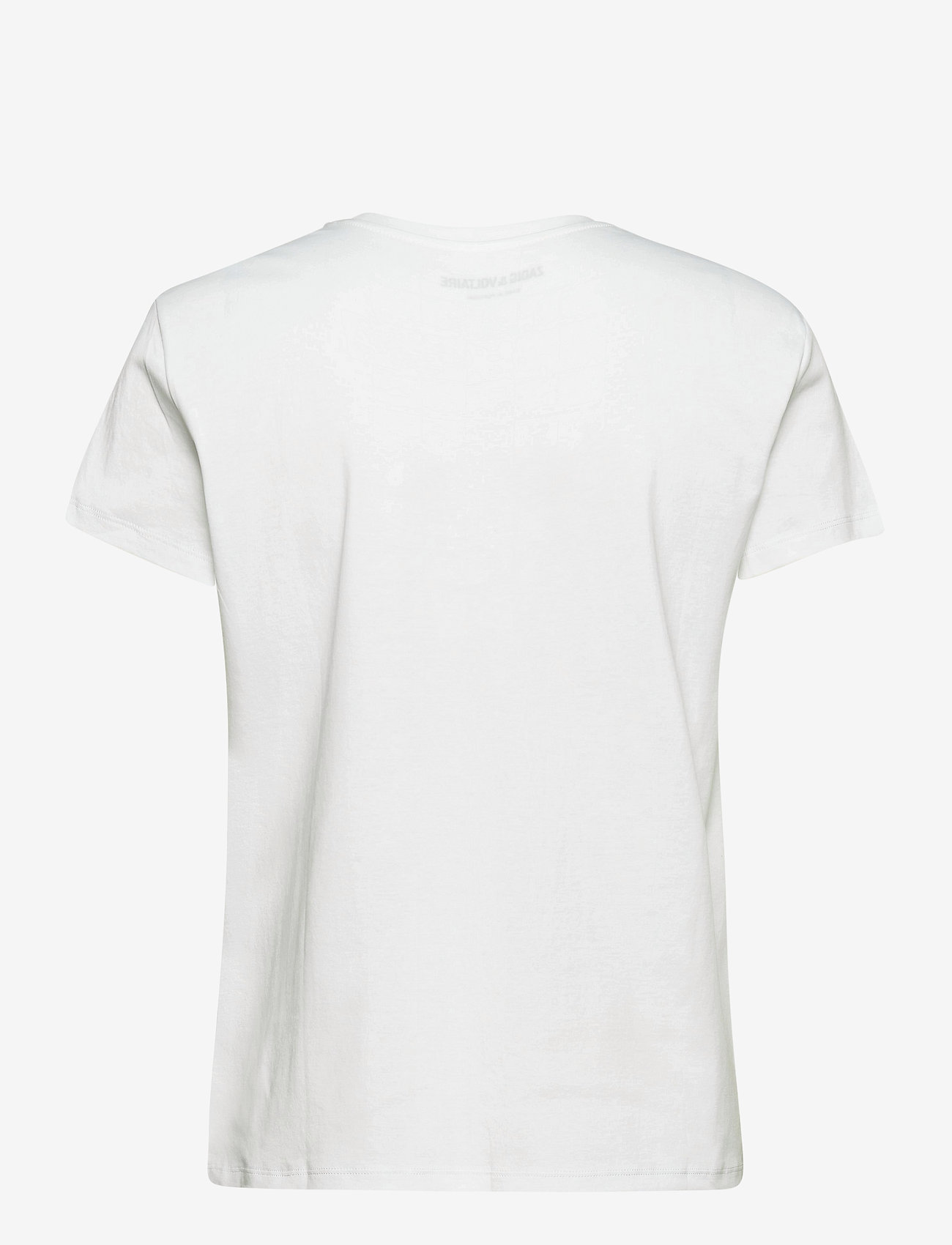 Zadig & Voltaire - ZOE BLASON GLITTER COTTON T-SHIRT - t-shirts - white - 2