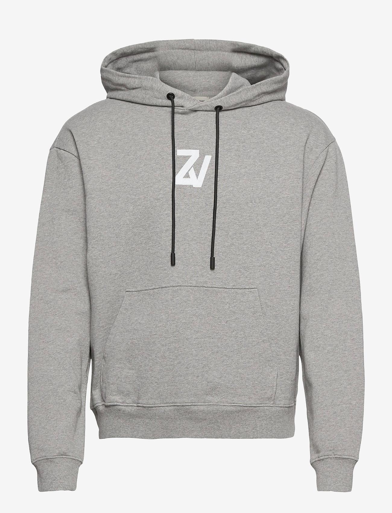 Zadig & Voltaire - STORM MO PHOTOPRINT ZV FACTORY SWEATSHIRT CAPSULE - basic sweatshirts - gris chine clair - 0