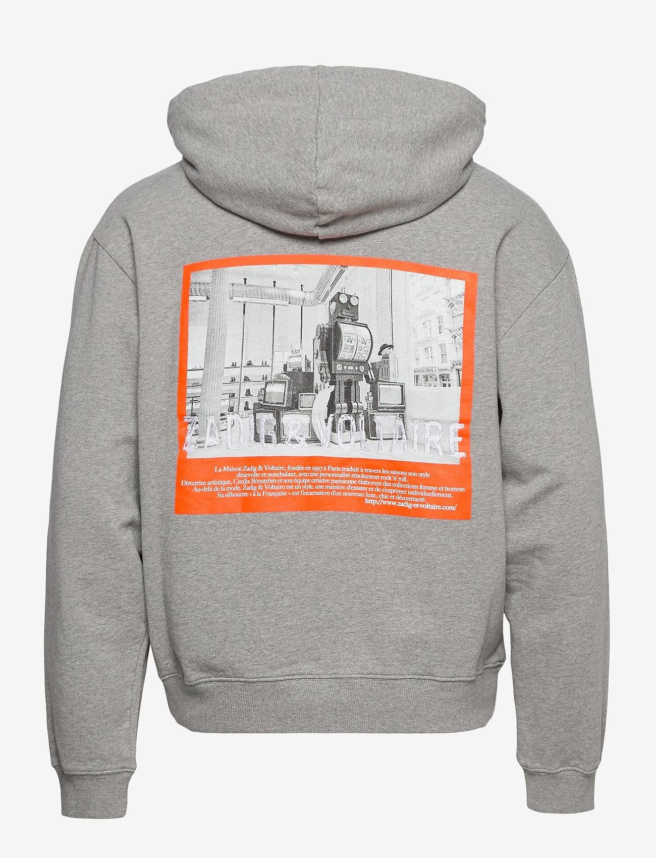 Zadig & Voltaire - STORM MO PHOTOPRINT ZV FACTORY SWEATSHIRT CAPSULE - basic sweatshirts - gris chine clair - 1