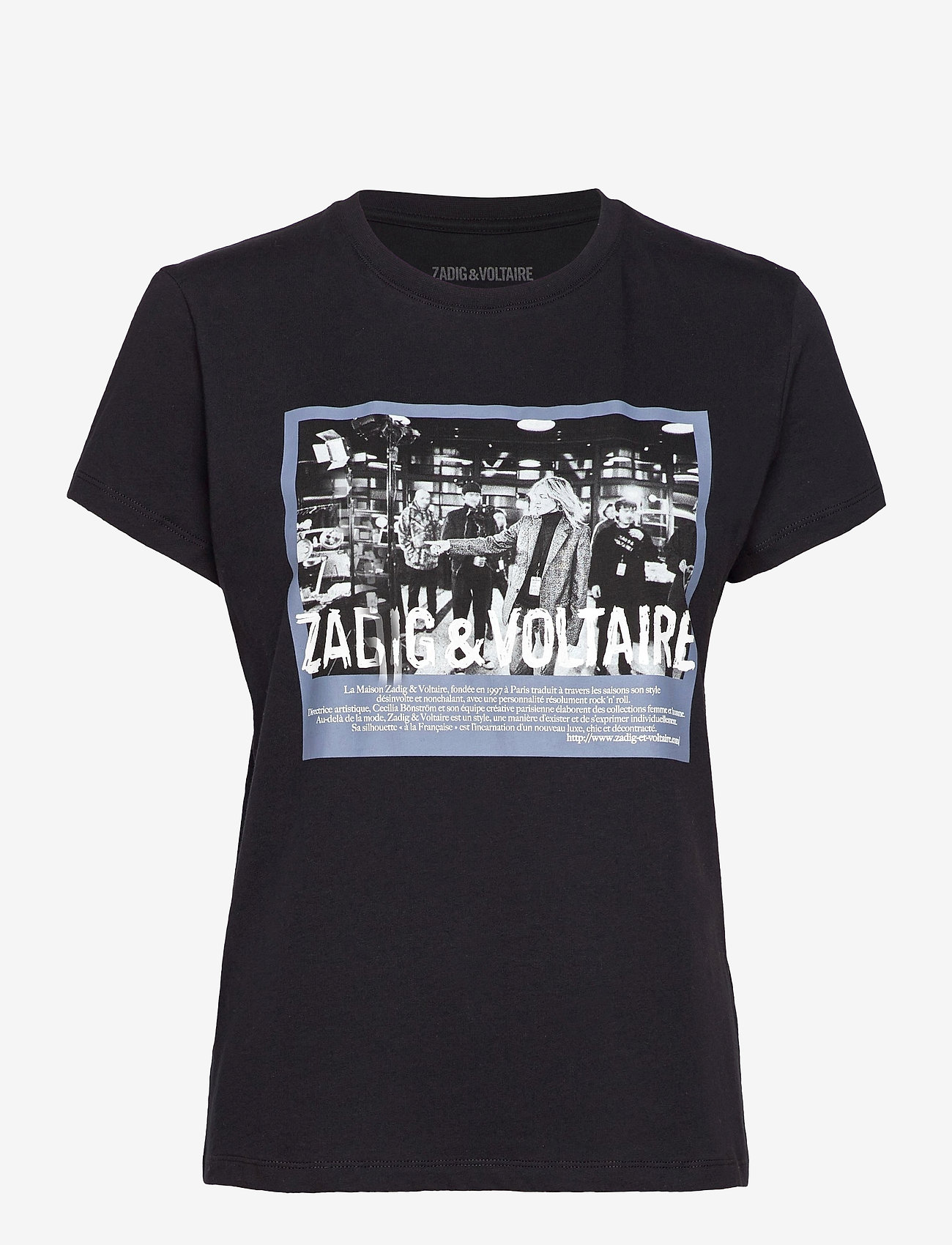 Zadig & Voltaire - ZOE PHOTOPRINT PRINTED T-SHIRT - t-shirts - black - 1