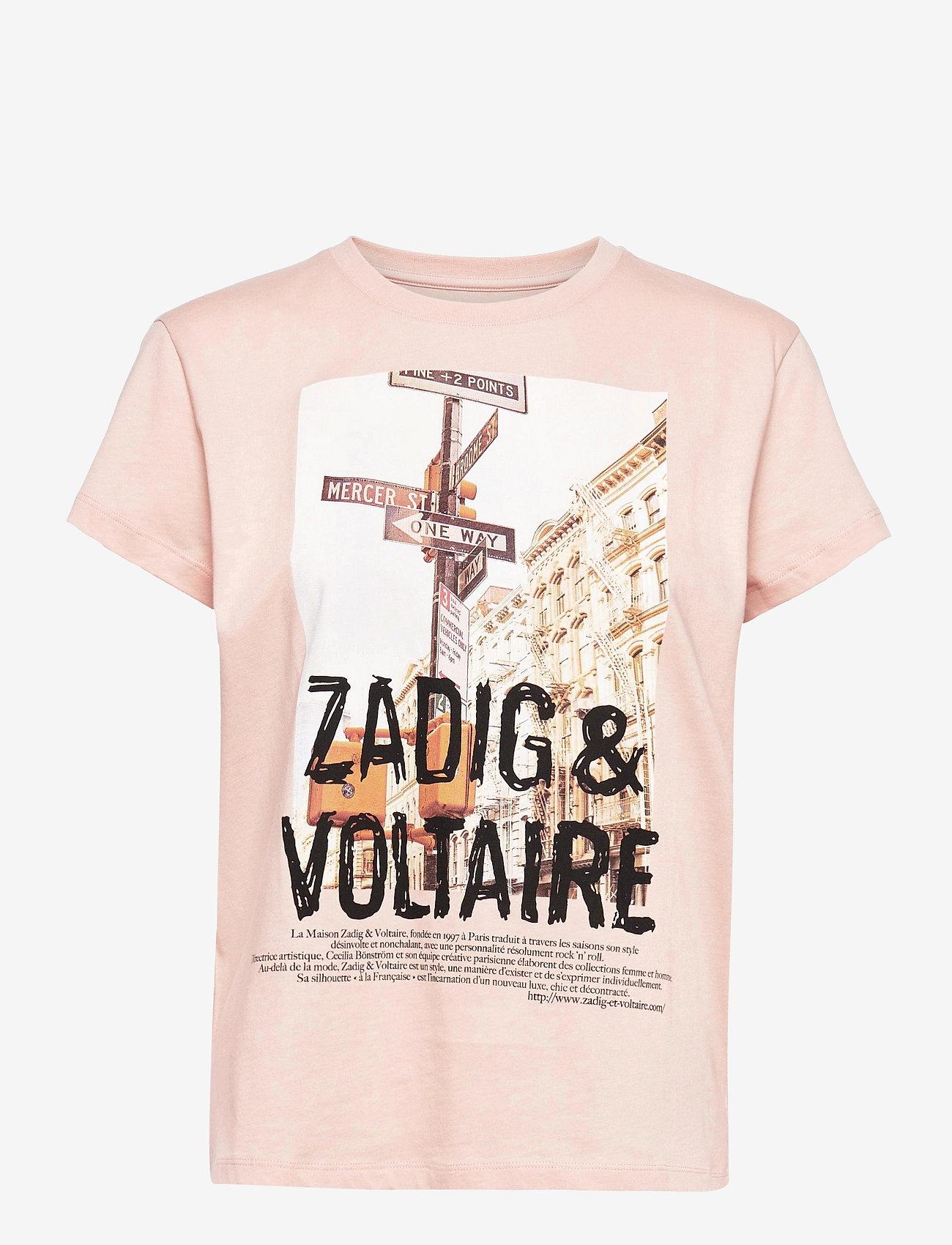 Zadig & Voltaire - ZOE PHOTOPRINT PRINTED T-SHIRT - t-shirts - skin - 1