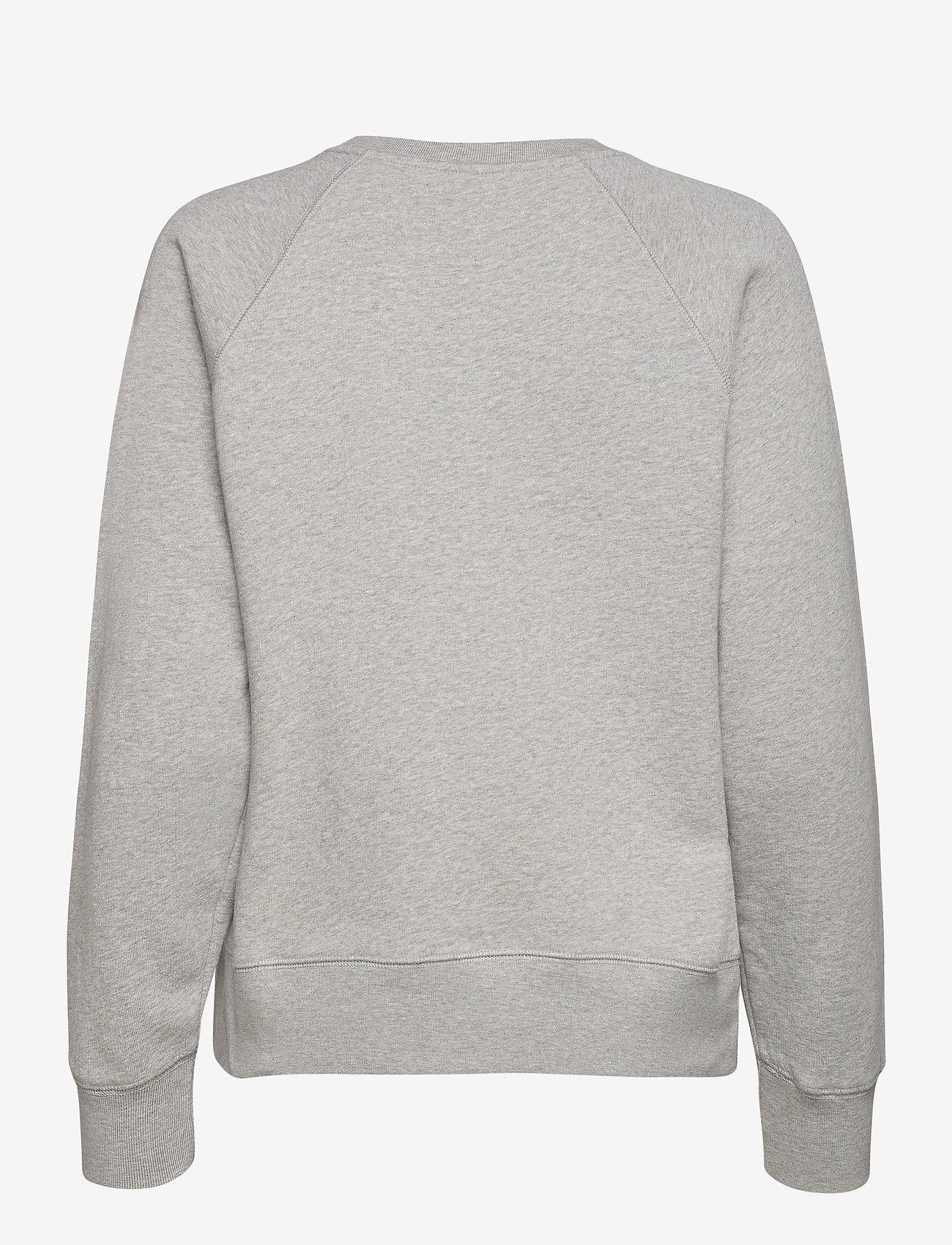 Zadig & Voltaire - UPPER ZV ADDRESS ORGANIC COTTON PRINTED SWEATSHIRT - sweatshirts & hættetrøjer - melange grey - 2