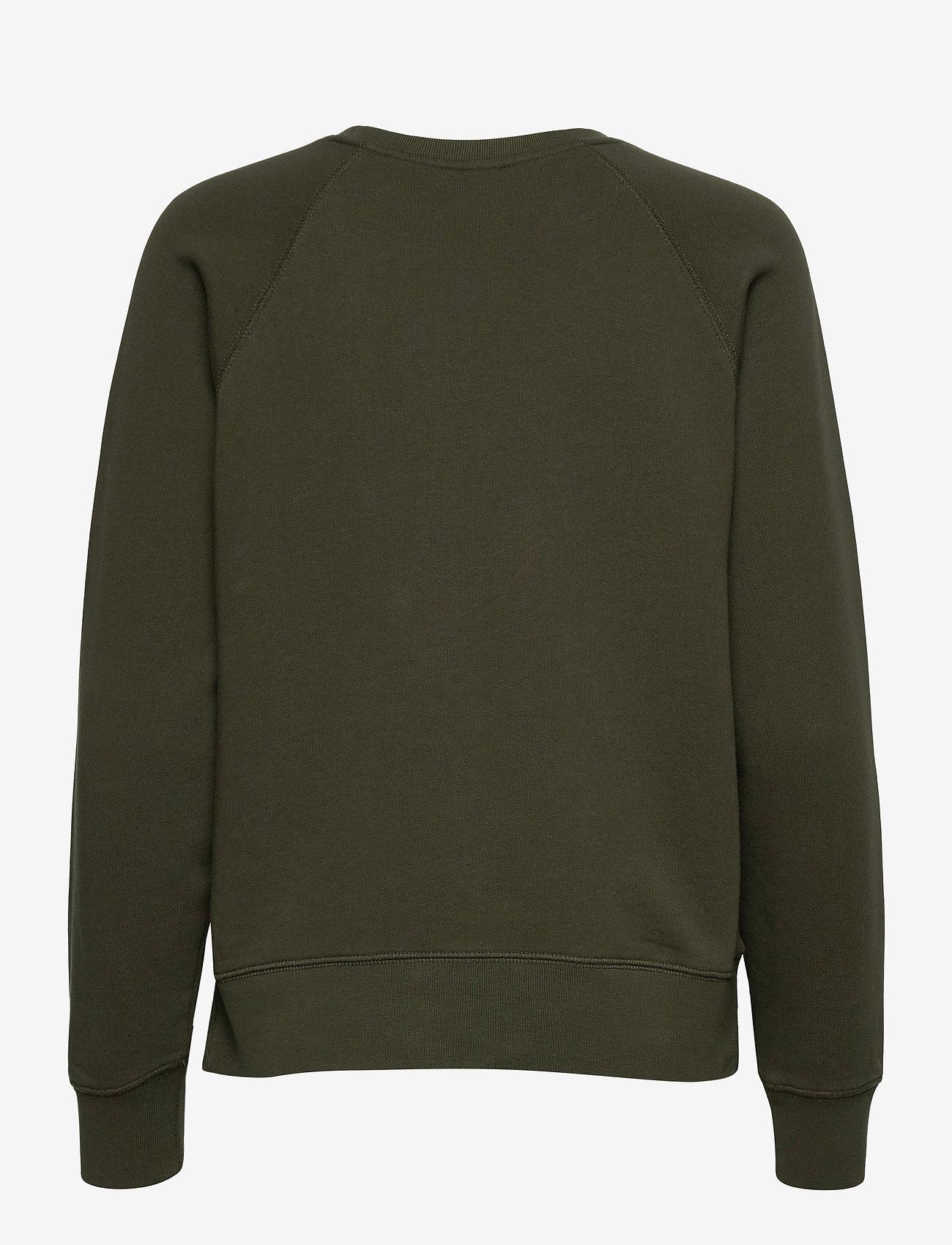 Zadig & Voltaire - UPPER BLASON BRODE TONAL EMBROIDERED COTTON SWEATS - sweatshirts & hættetrøjer - khaki - 2