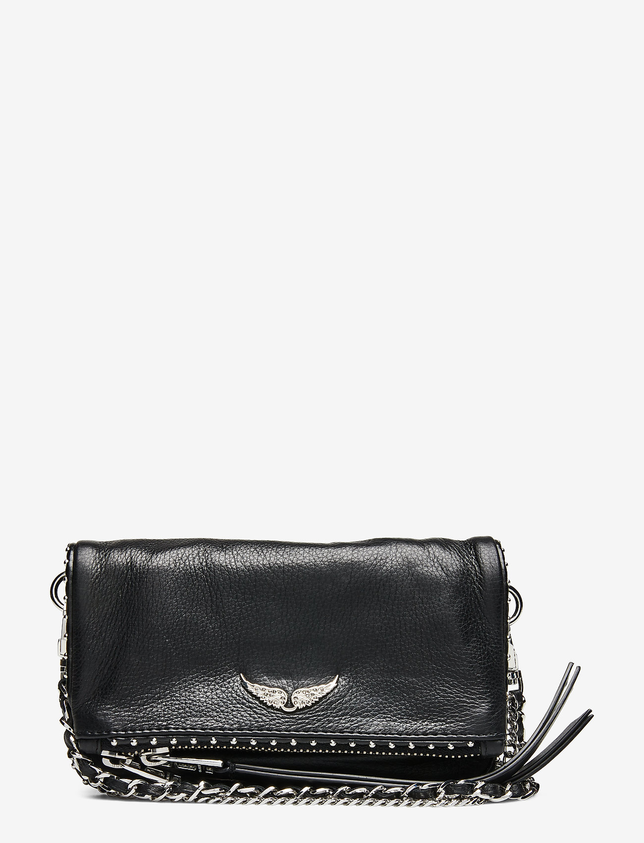 Zadig & Voltaire - ROCK NANO GRAINED LEATHER + STUDS - crossbody bags - black - 0