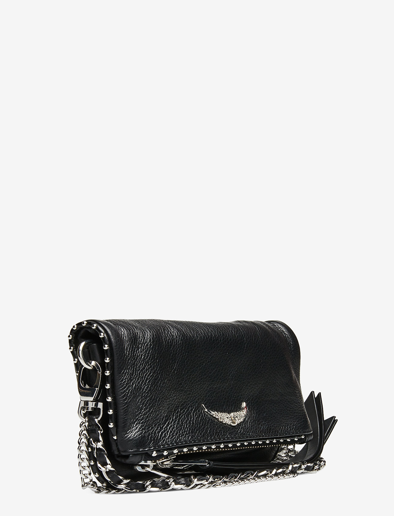 Zadig & Voltaire - ROCK NANO GRAINED LEATHER + STUDS - crossbody bags - black - 2