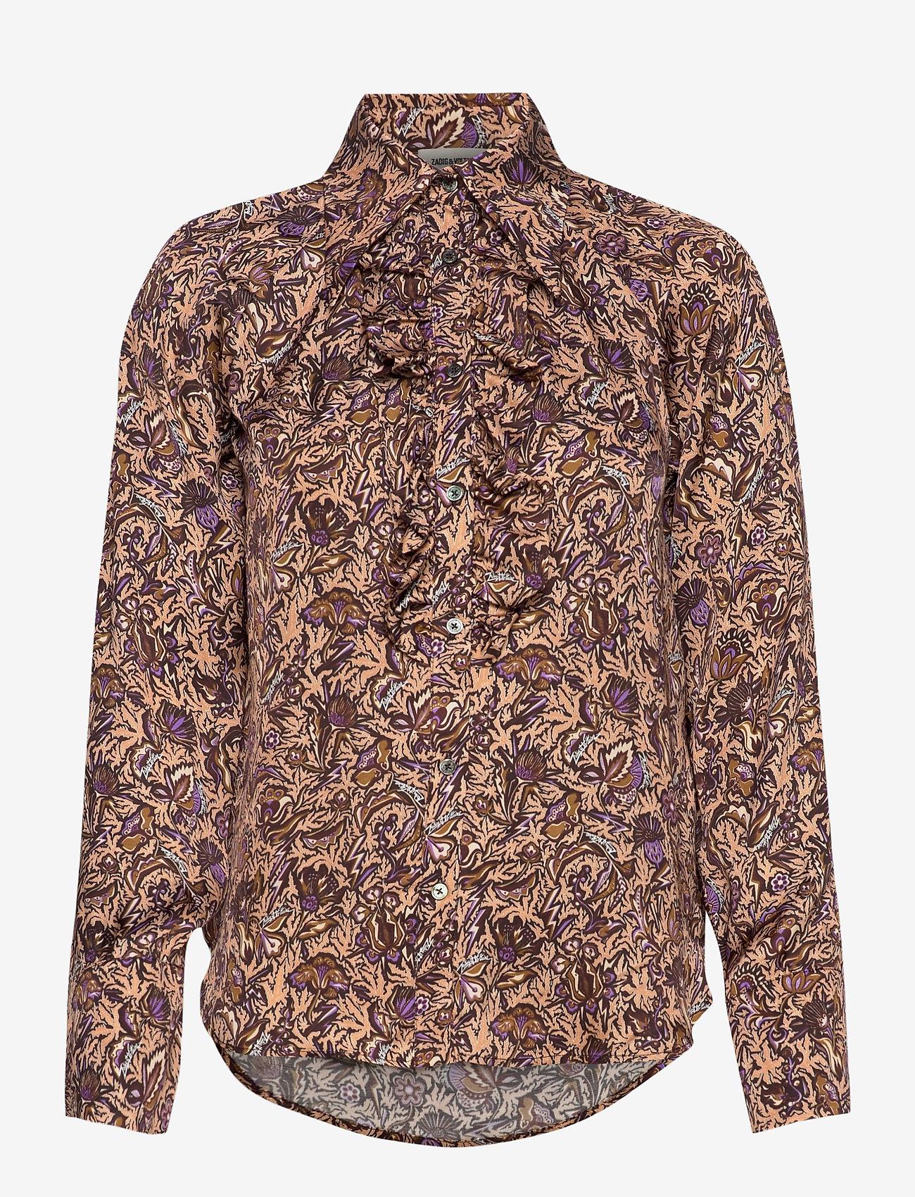 Zadig & Voltaire - TUSKA SATIN THORN CHEMISE - langærmede skjorter - mult - 0