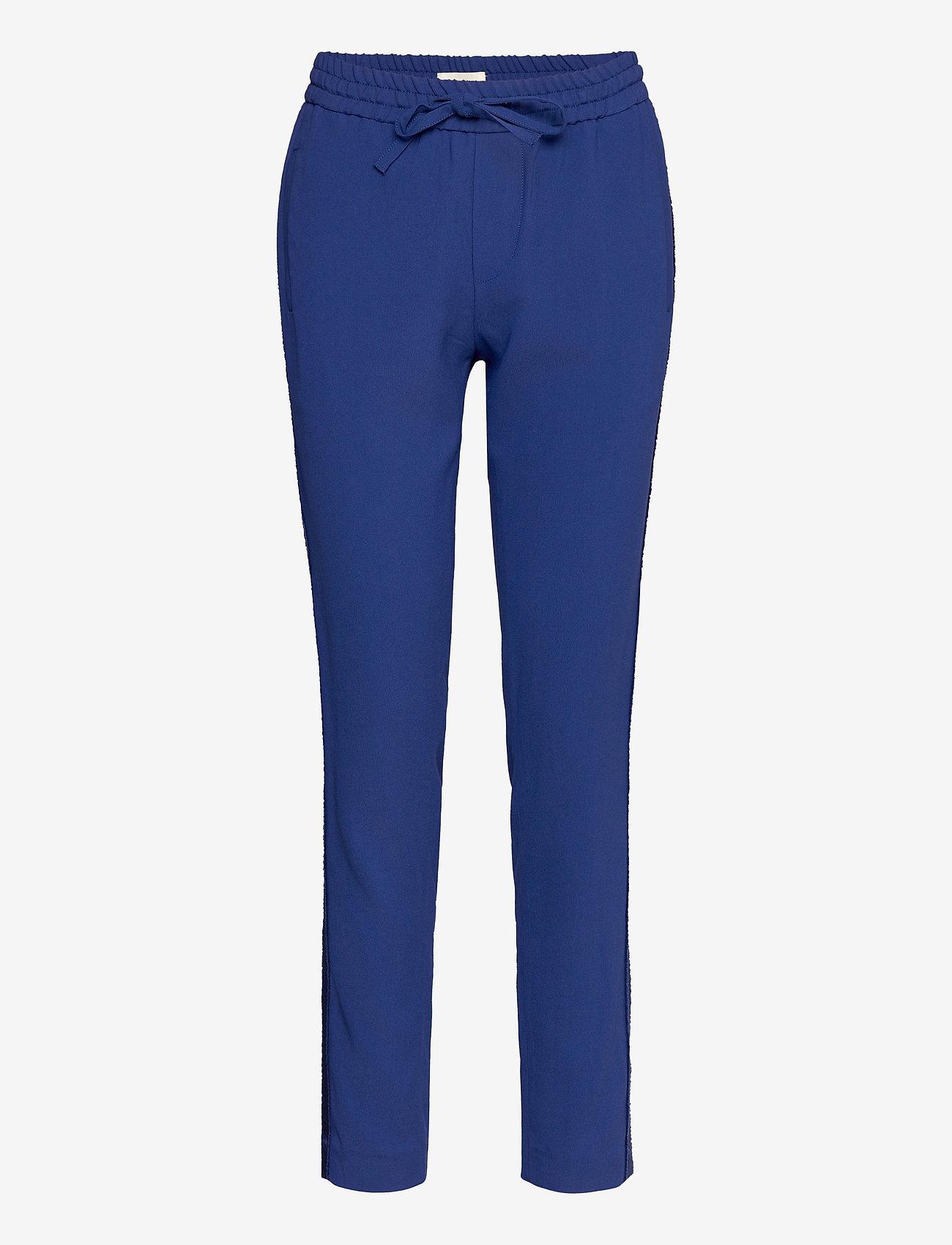 Zadig & Voltaire - PARONO CREPE PANTALON - slim fit bukser - blue - 0