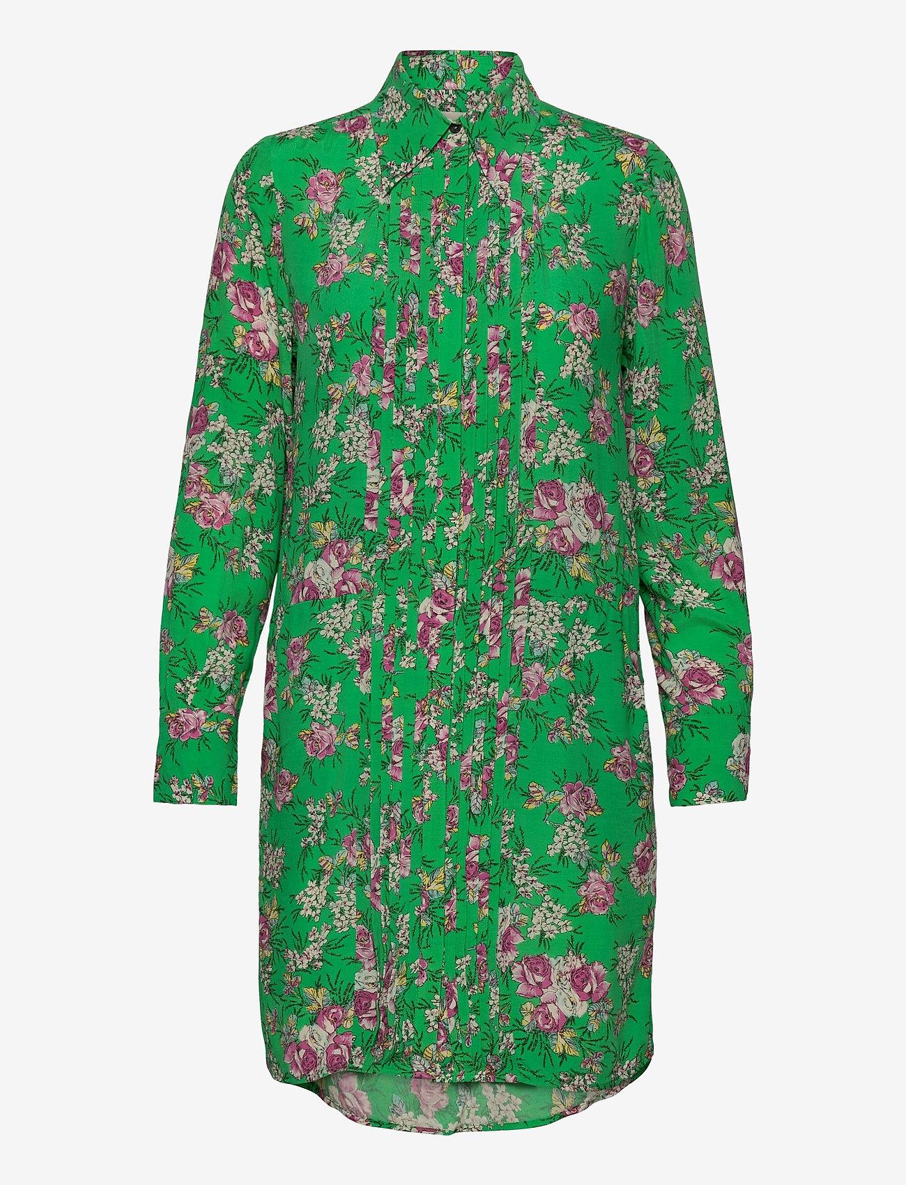 Zadig & Voltaire - ROUGI PRINT ROSES ROBE - midi kjoler - green - 0