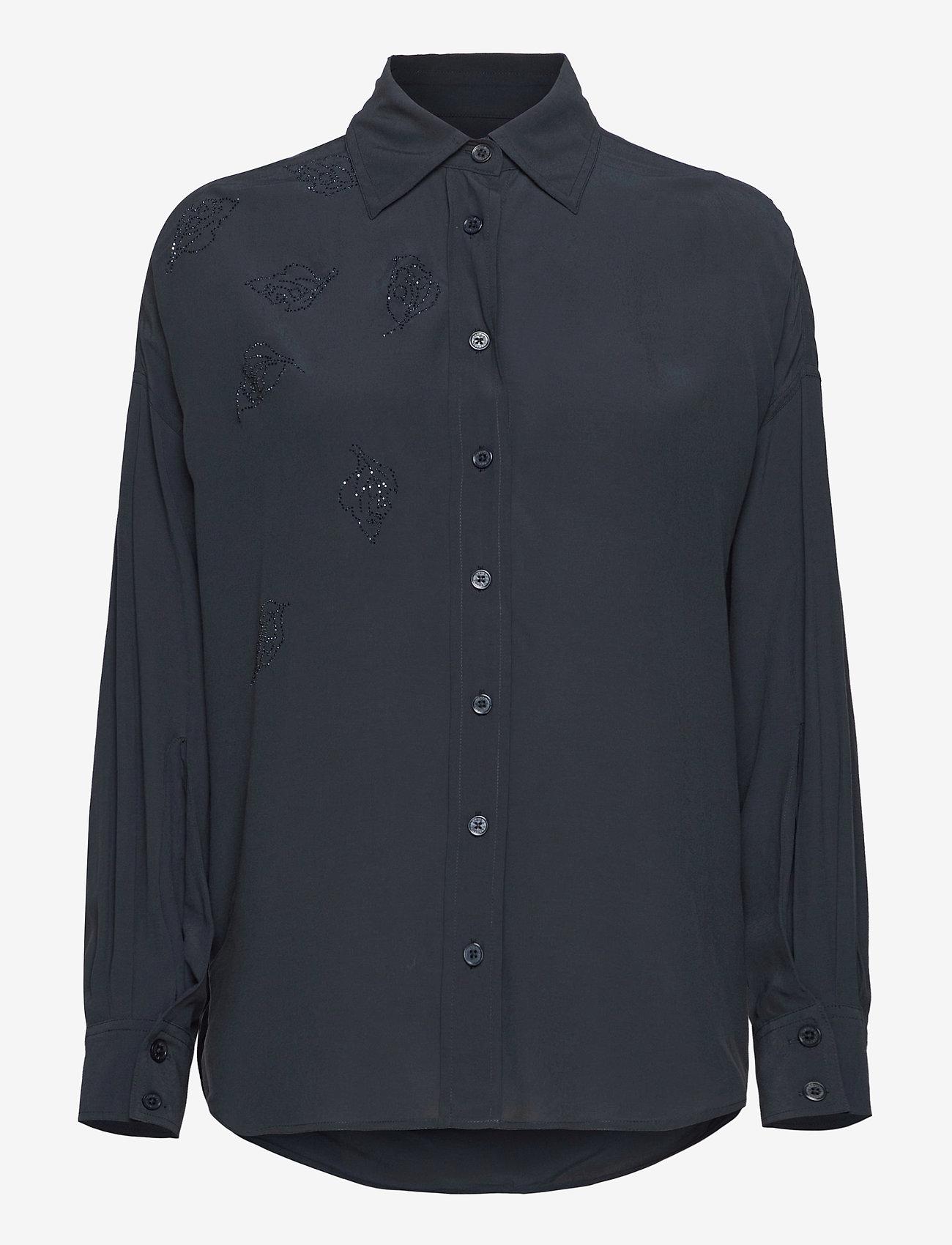Zadig & Voltaire - TAMARA STRASS SHIRT - langærmede skjorter - navy blue - 0