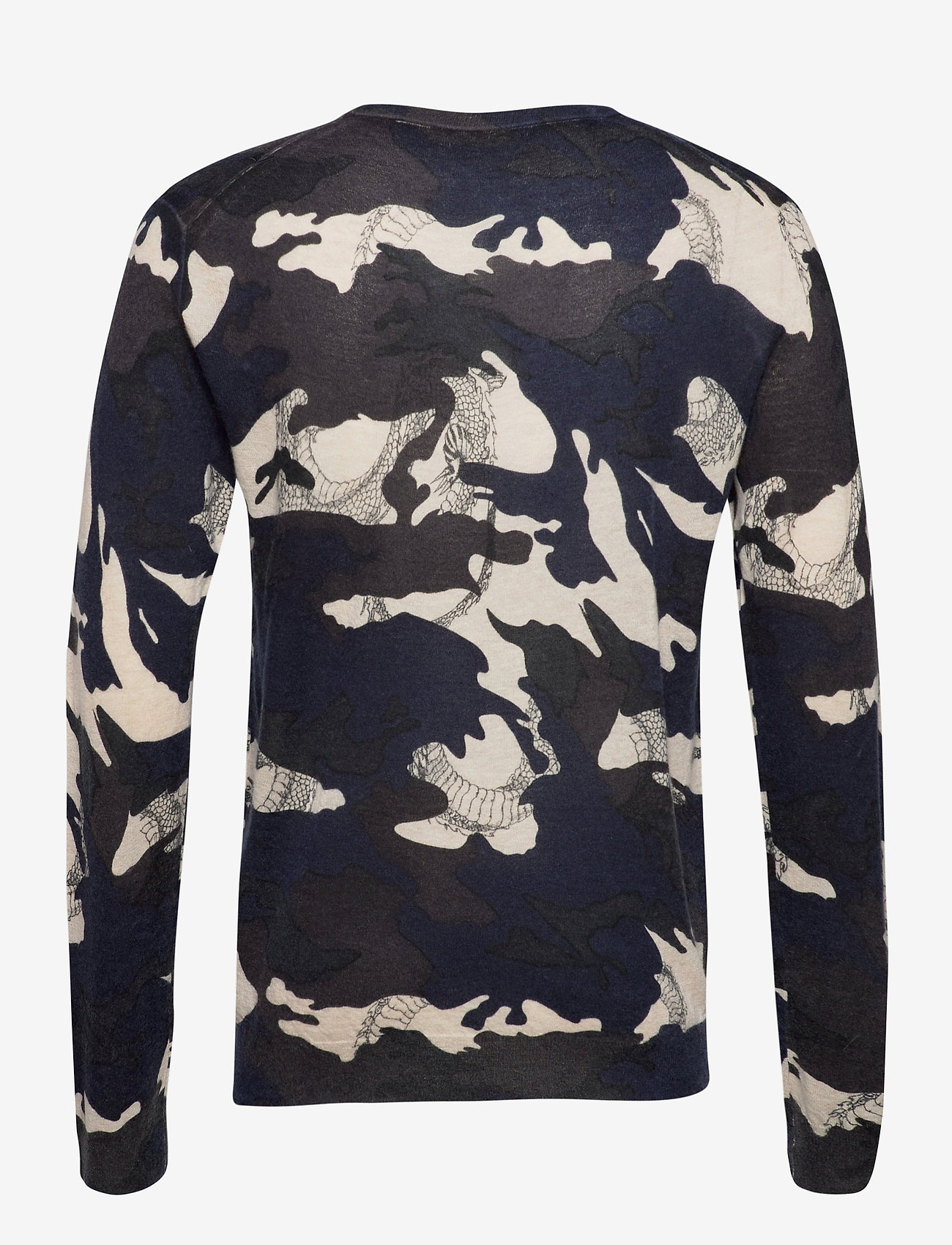 Zadig & Voltaire - KENNEDY CP AO CAMOU DRAGON PULL PRINT ALLOVER - rund hals - navy blue - 1