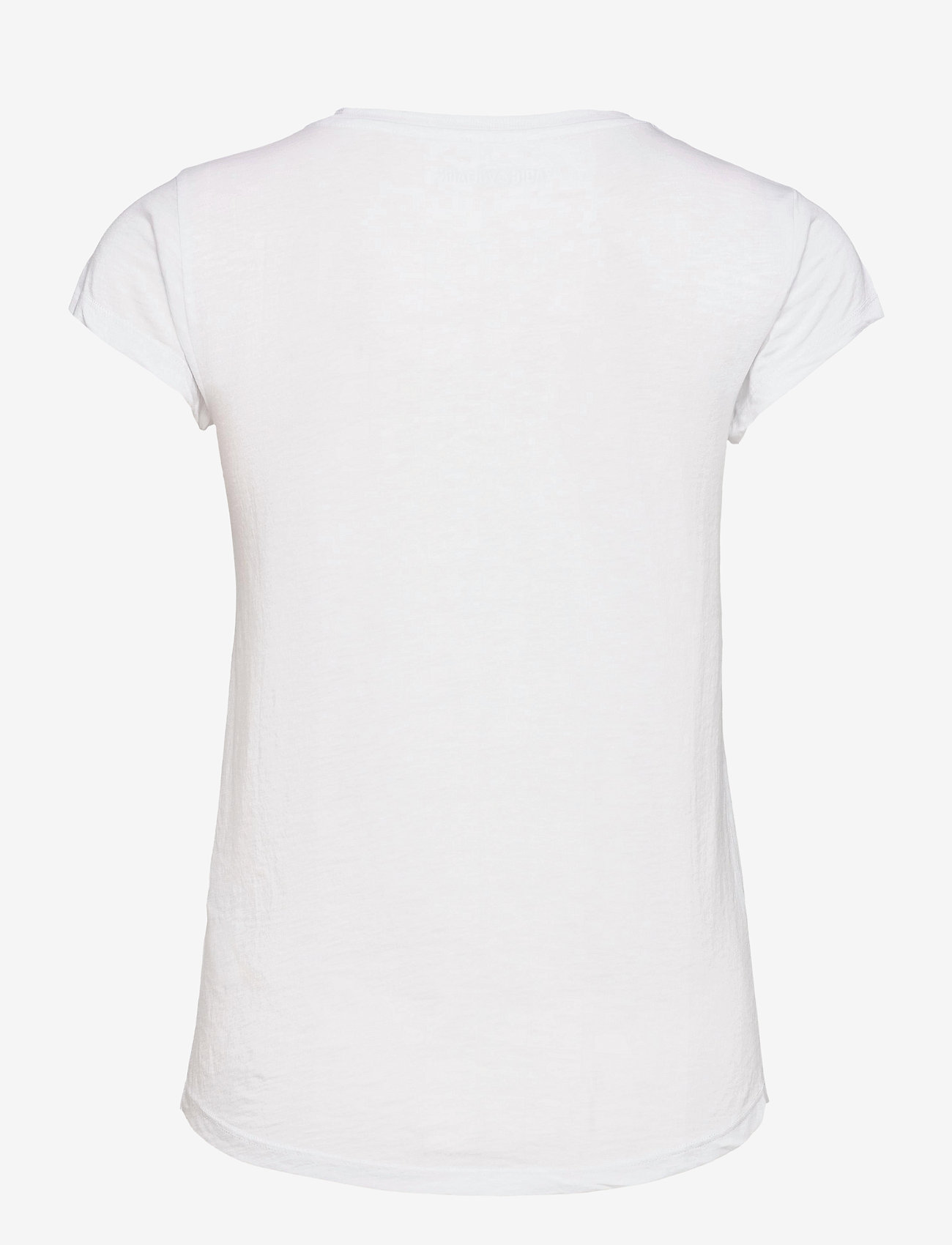 Zadig & Voltaire - SKINNY STRASS SKULL STARS CO/MODAL T-SHIRT - t-shirts - white - 2