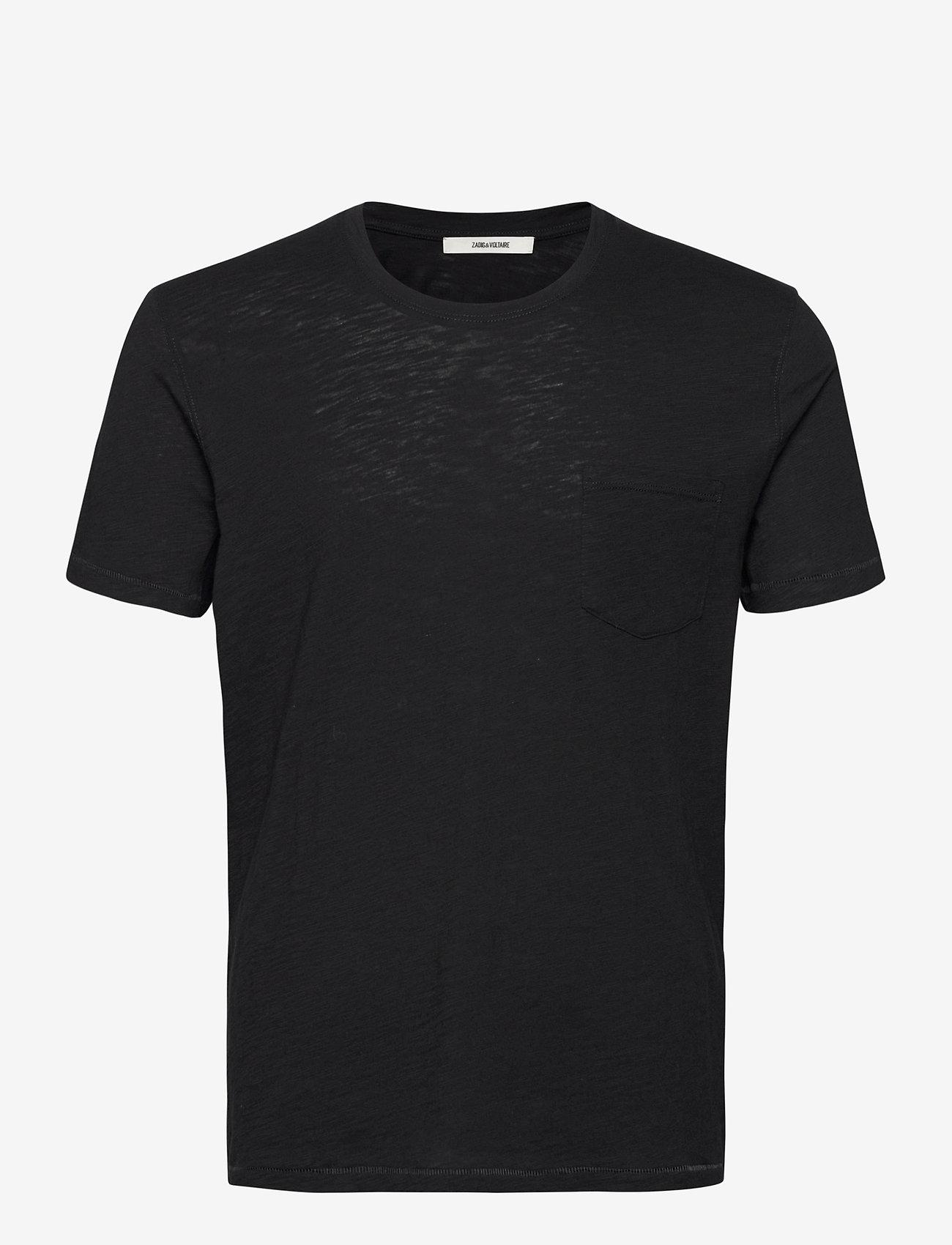 Zadig & Voltaire - STOCKHOLM FLAMME EAGLE SKULL TSHIRT MC PRINT DOS - basic t-shirts - black - 0