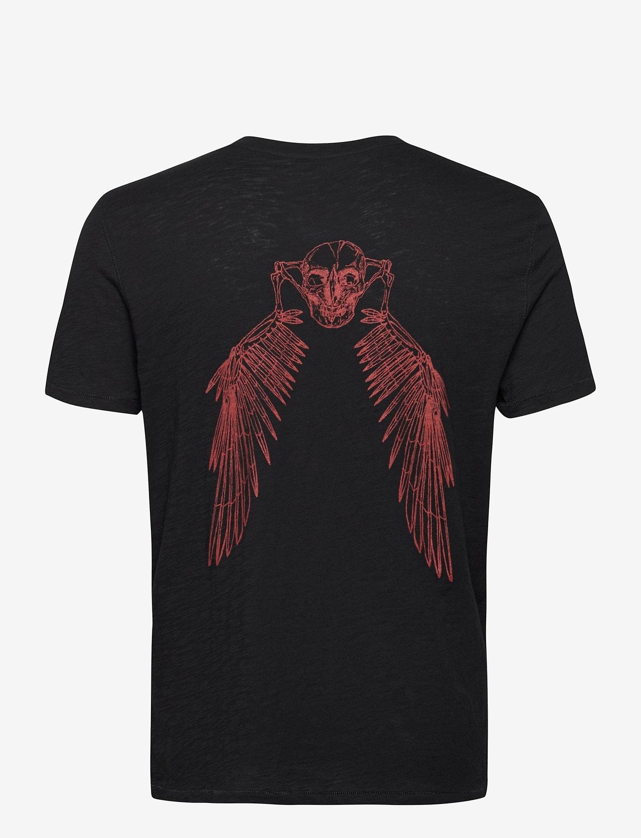 Zadig & Voltaire - STOCKHOLM FLAMME EAGLE SKULL TSHIRT MC PRINT DOS - basic t-shirts - black - 1
