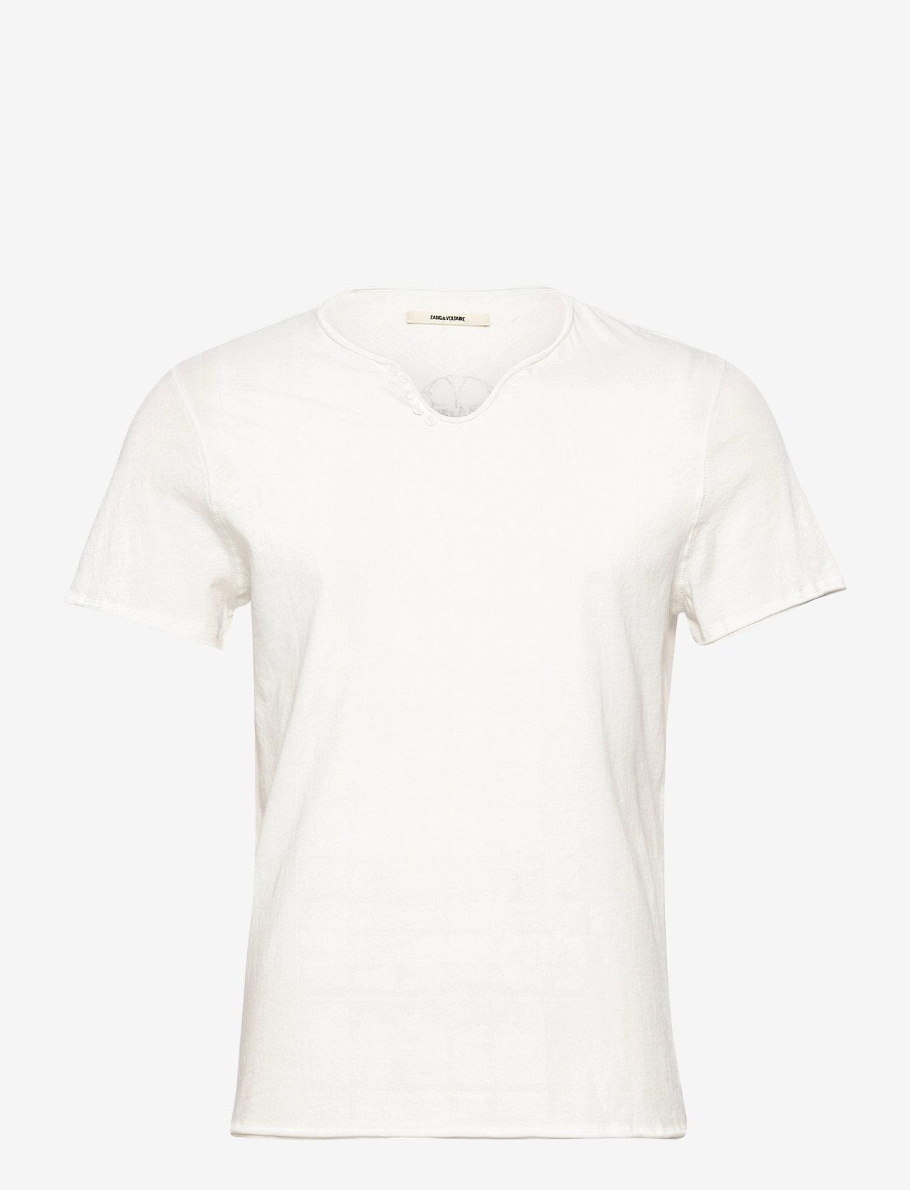 Zadig & Voltaire - MONASTIR MC CL EAGLE SKULL TUNISIEN MC PRINT DOS - basic t-shirts - cream - 0