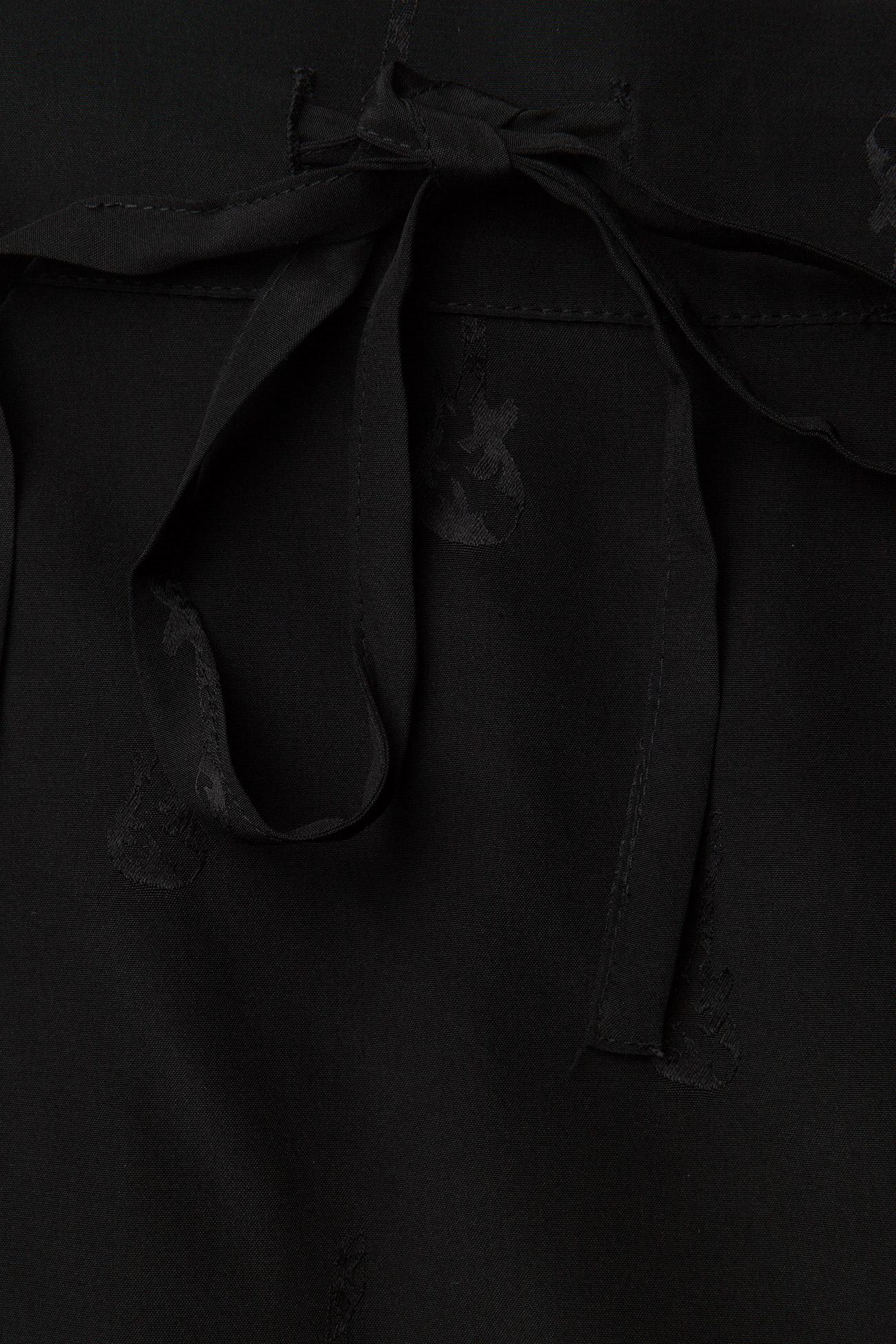 Zadig & Voltaire - JILLIAN JAC GUITAR PERM LONG SKIRT JACQUARD CDC - korte nederdele - black - 3