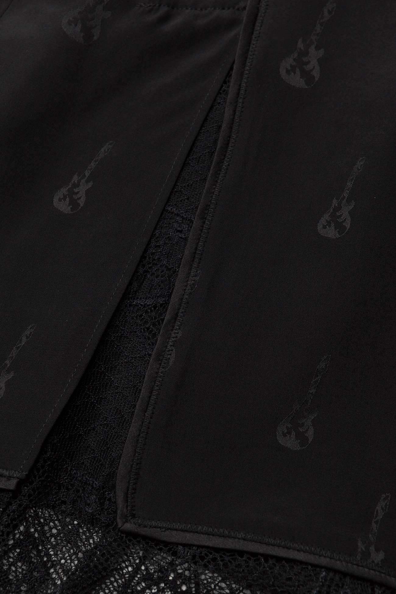 Zadig & Voltaire - JILLIAN JAC GUITAR PERM LONG SKIRT JACQUARD CDC - korte nederdele - black - 4