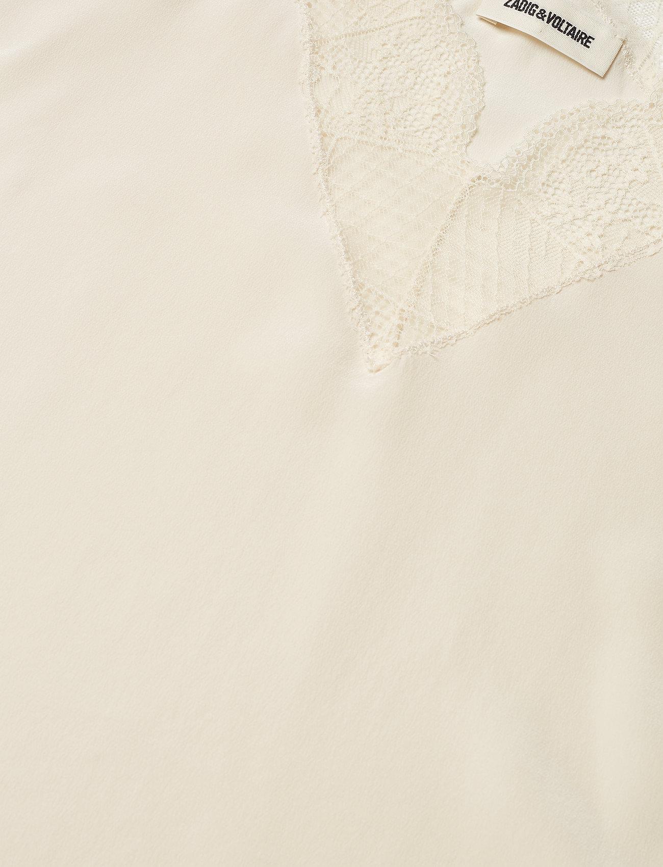 Zadig & Voltaire - CHRISTY CDC CARACO WITH A SCOOP NECKLINE - Ærmeløse bluser - ecru - 3
