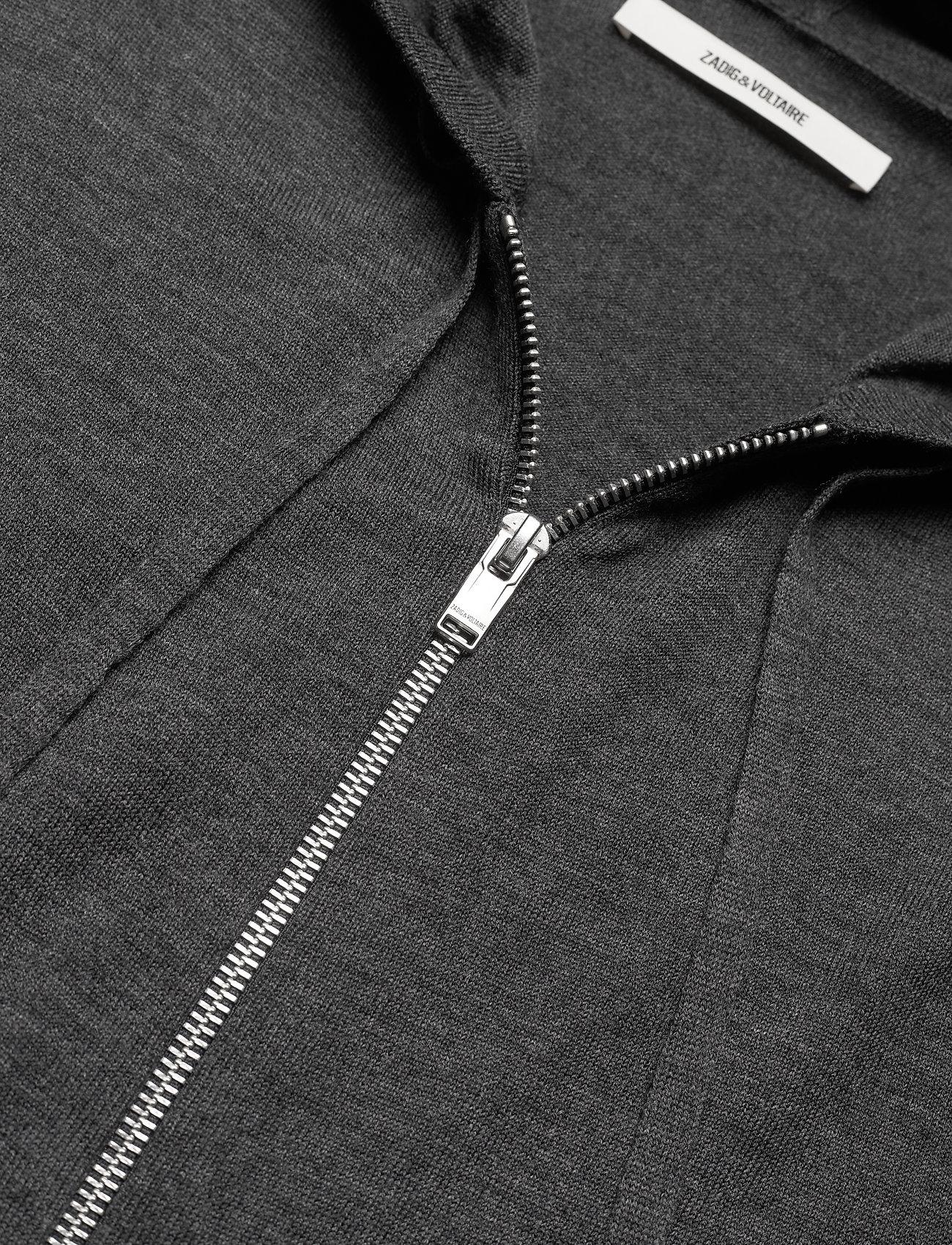 Zadig & Voltaire - CLASH M LONG SLEEVE HOODIE MERINOS - basic sweatshirts - grey - 2