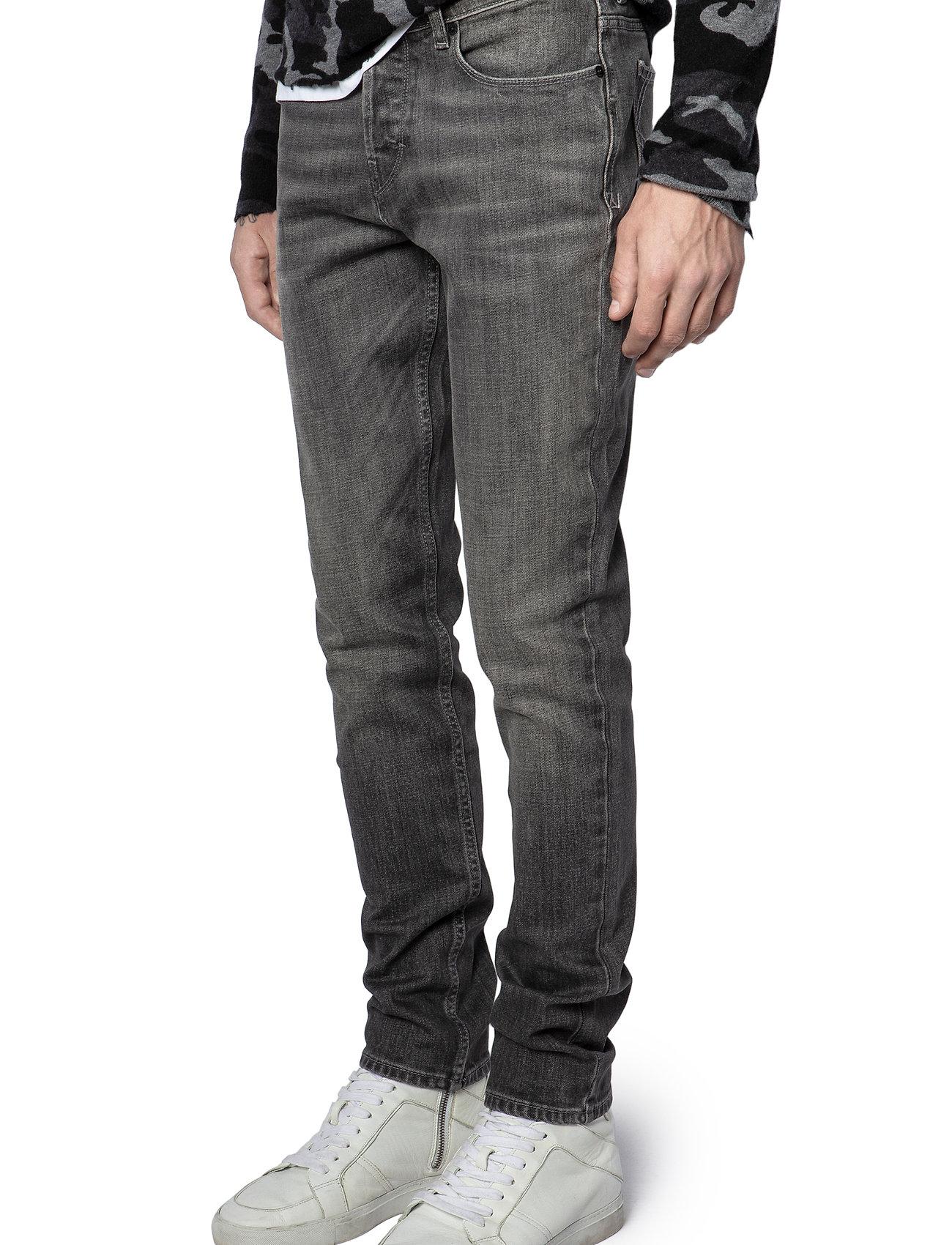 Zadig & Voltaire - DAVID ECO GRIS JEANS - slim jeans - grey - 7