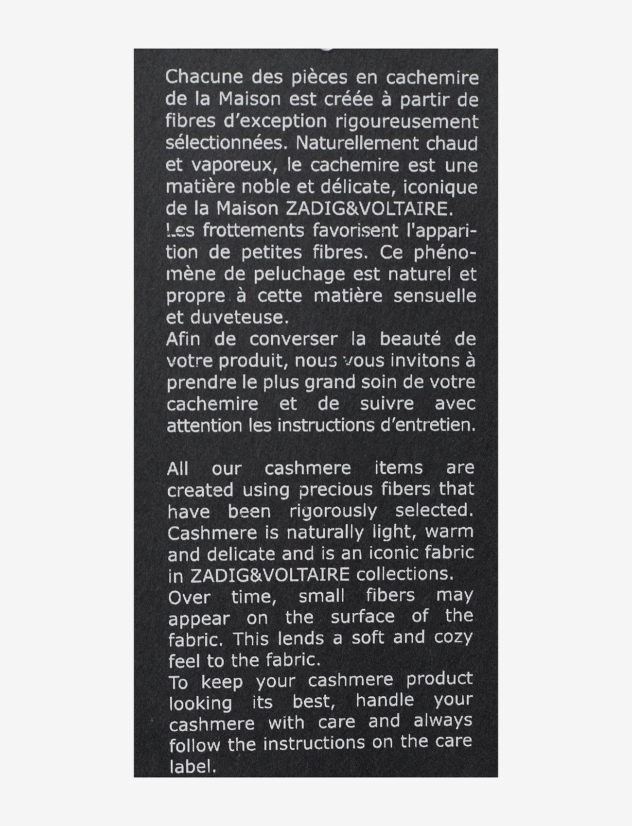 Zadig & Voltaire - KENNEDY C ARROW SWEATER CASHMERE INTARSIA - basic strik - grey - 3