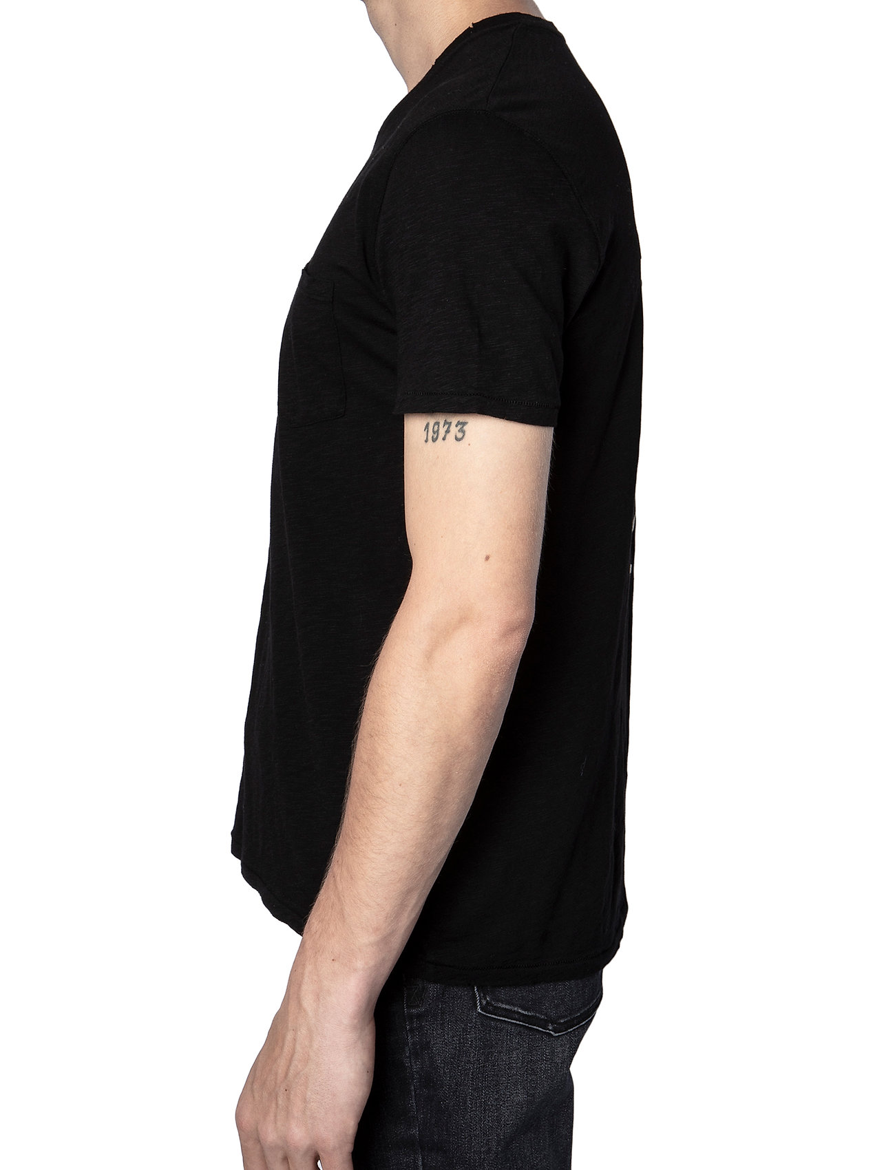 Zadig & Voltaire - STOCKHOLM COTTON SLUB - basic t-shirts - black - 4
