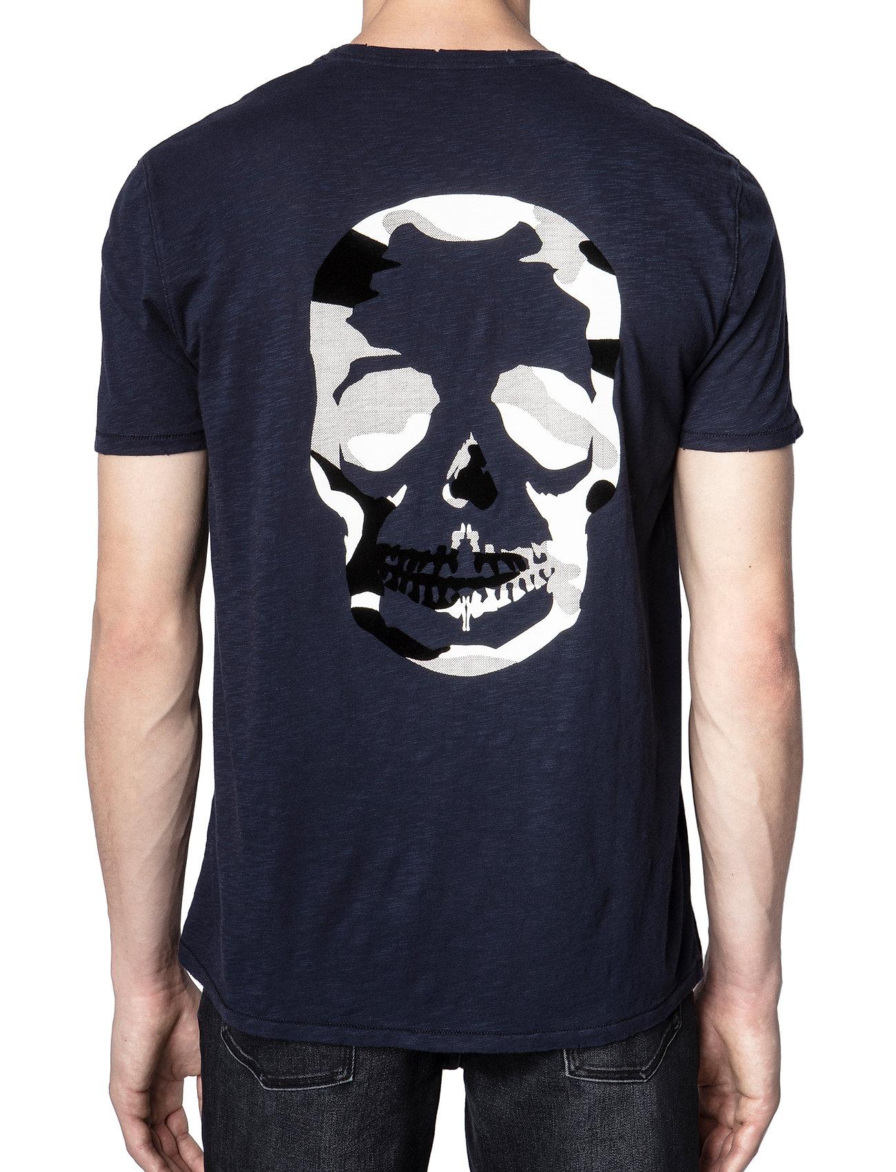Zadig & Voltaire - STOCKHOLM COTTON SLUB - basic t-shirts - navy blue - 3