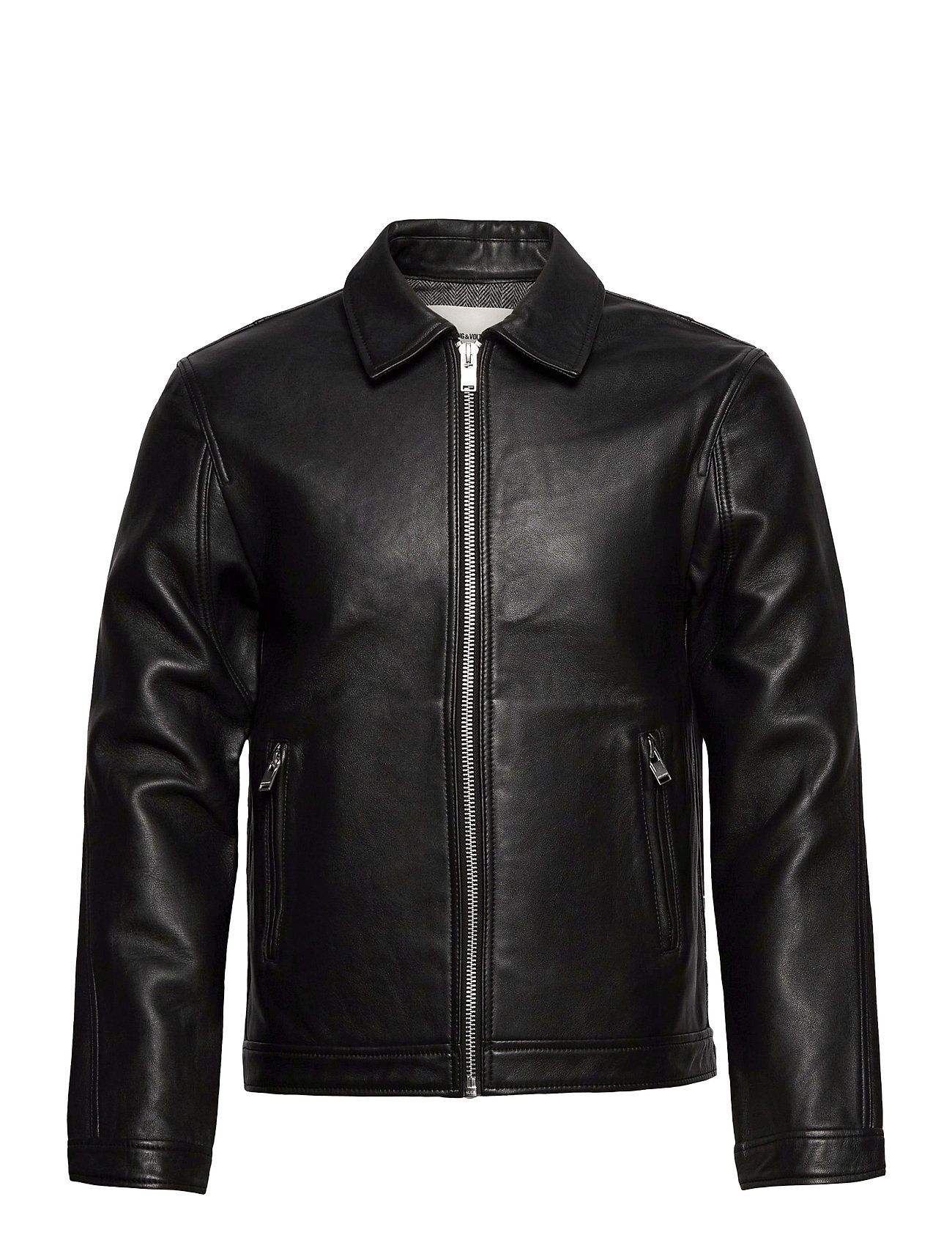 Image of Luk Bonded Leather Jacket Læderjakke Skindjakke Sort Zadig & Voltaire (3493273621)